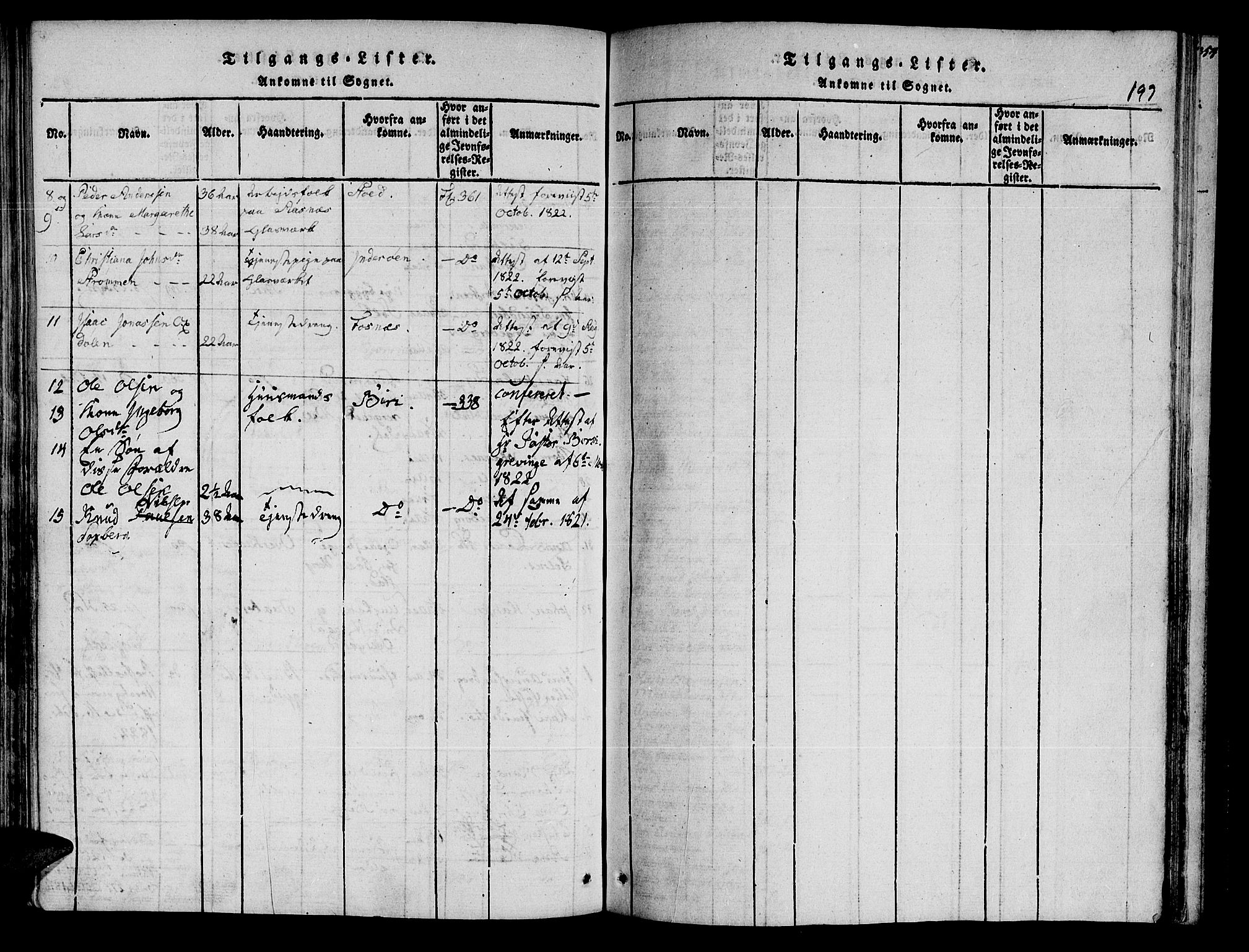 SAT, Ministerialprotokoller, klokkerbøker og fødselsregistre - Nord-Trøndelag, 741/L0387: Ministerialbok nr. 741A03 /3, 1817-1822, s. 197