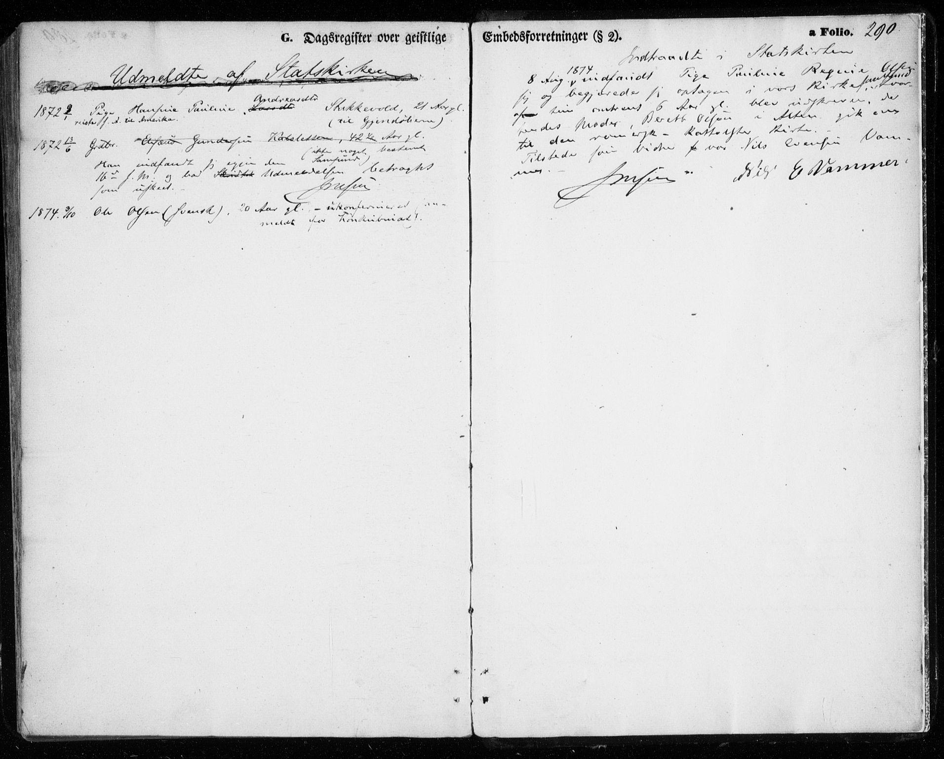 SATØ, Tromsøysund sokneprestkontor, G/Ga/L0002kirke: Ministerialbok nr. 2, 1867-1875, s. 290