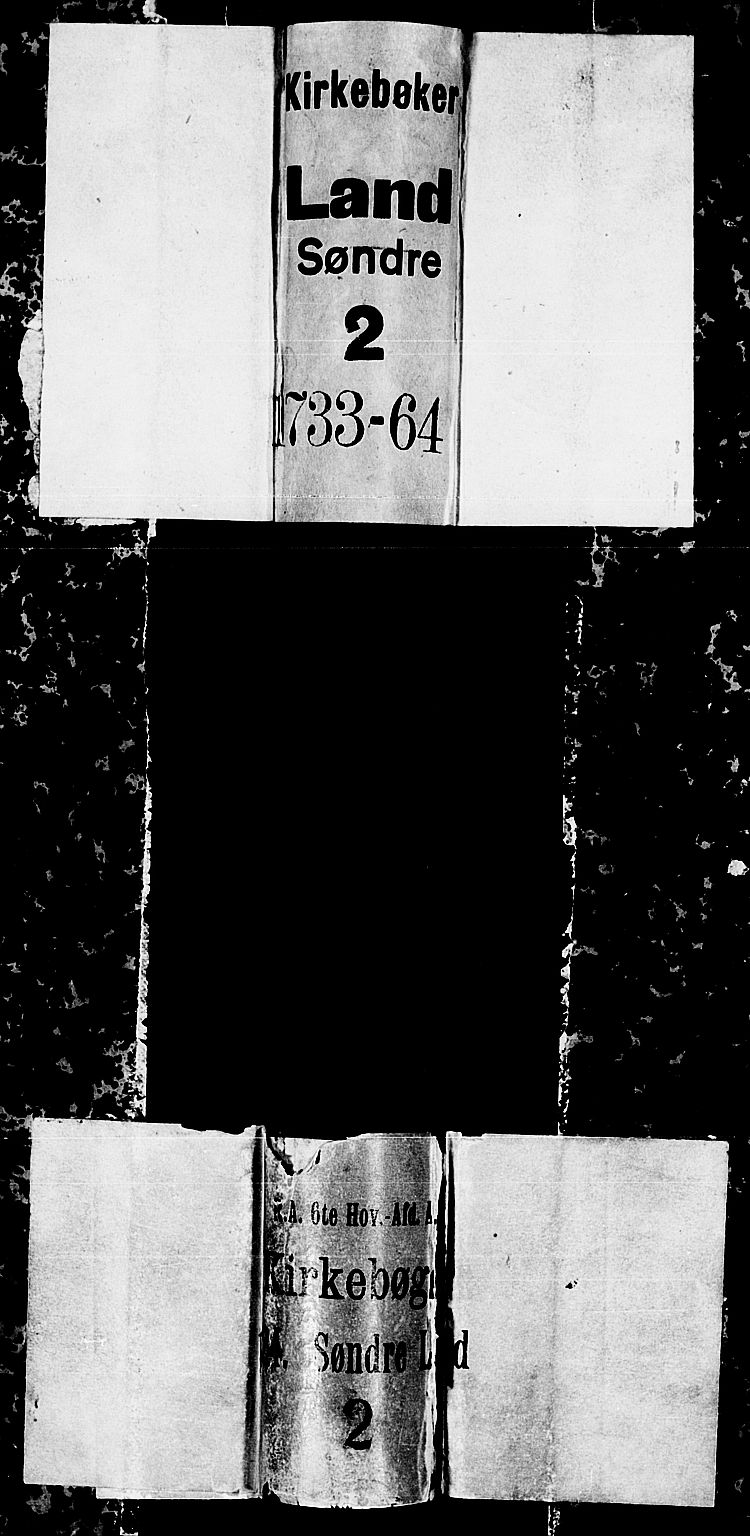 SAH, Land prestekontor, Ministerialbok nr. 2, 1733-1764