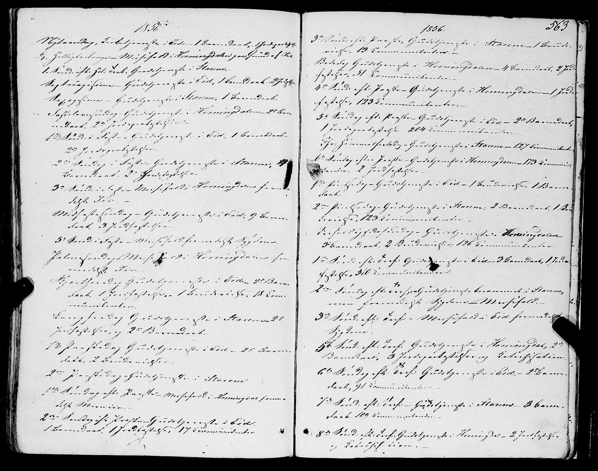 SAB, Eid Sokneprestembete, H/Haa: Ministerialbok nr. A 7, 1844-1858, s. 563