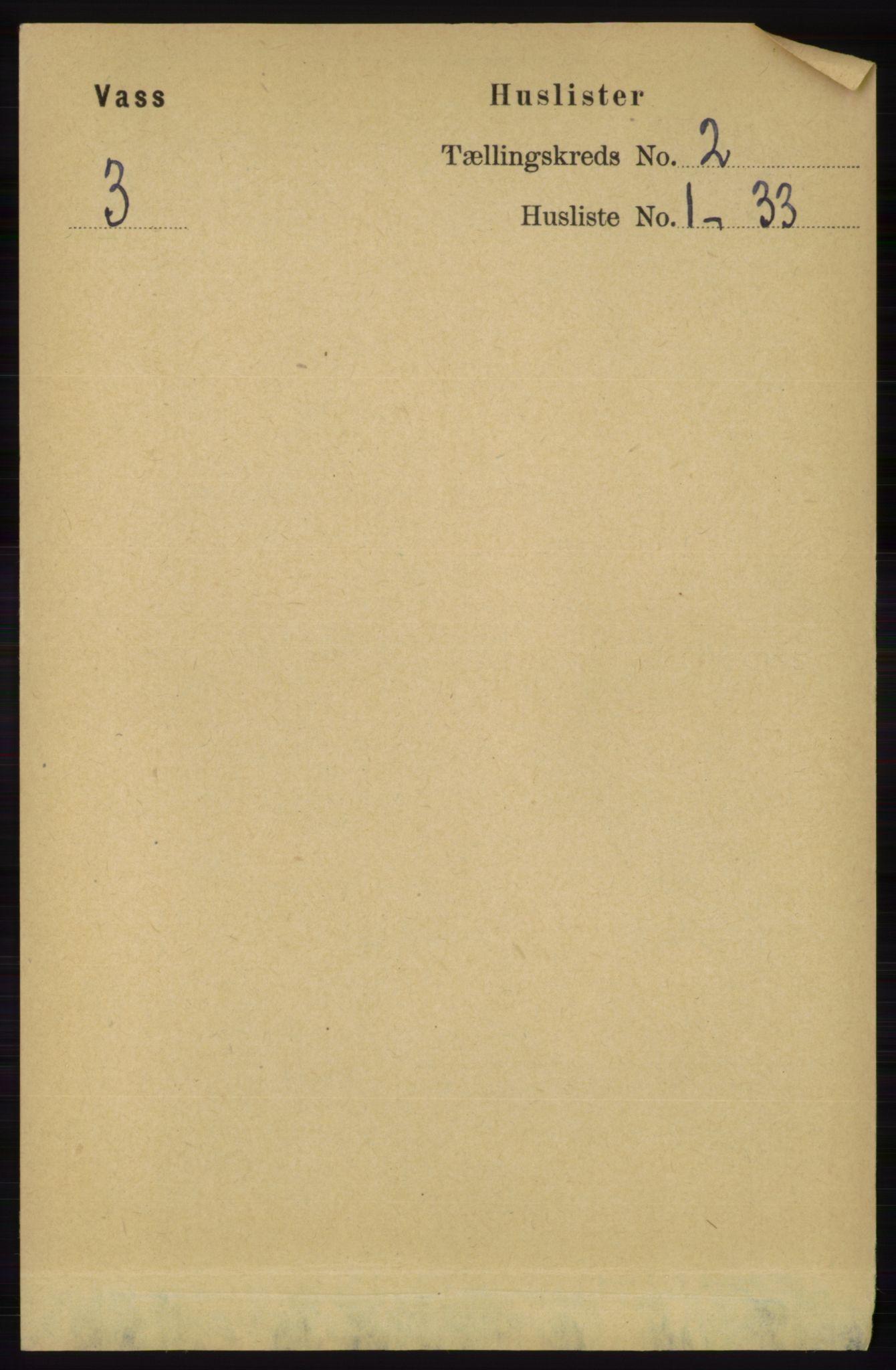 RA, Folketelling 1891 for 1155 Vats herred, 1891, s. 172