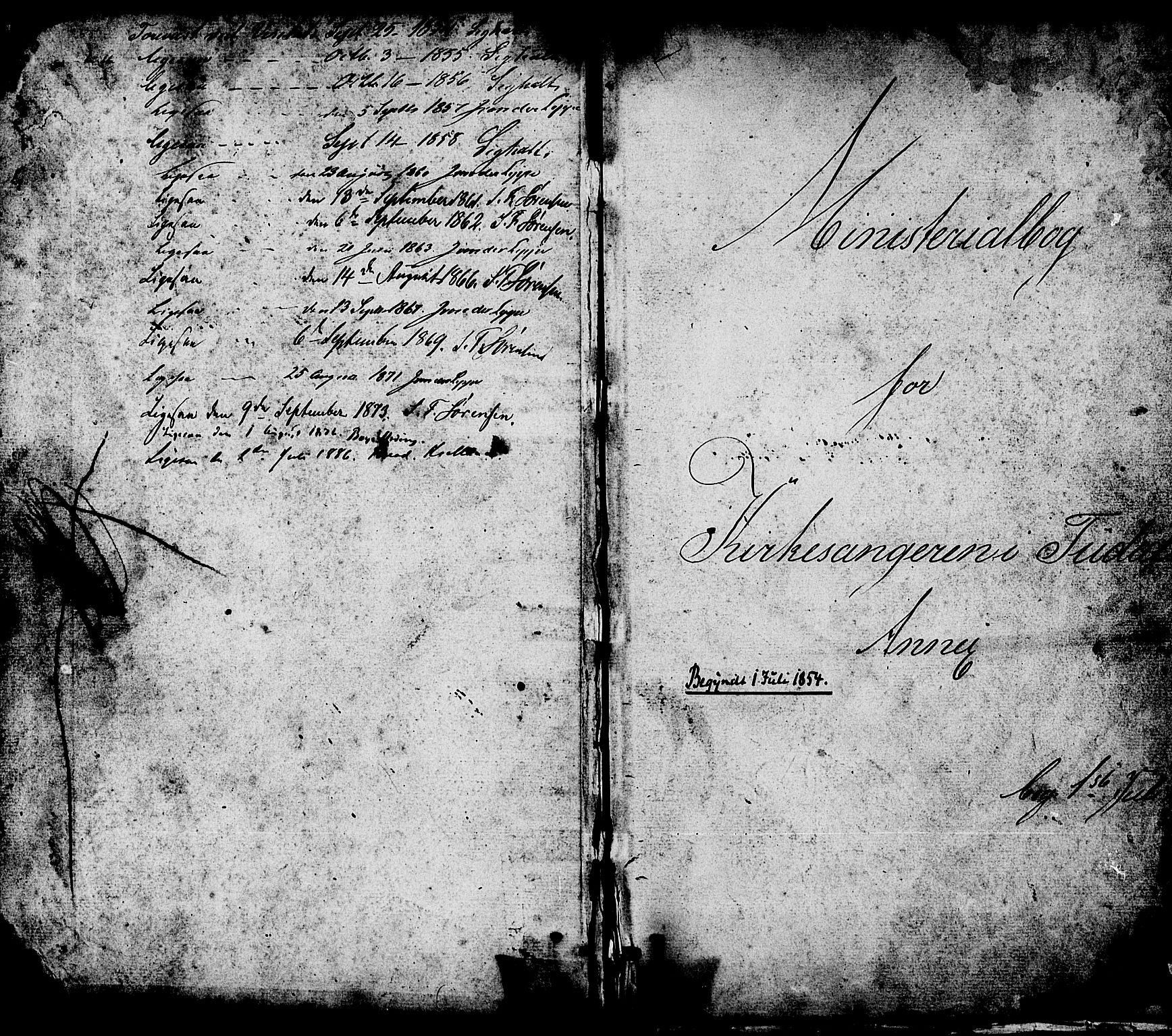 SAKO, Hjartdal kirkebøker, G/Gc/L0002: Klokkerbok nr. III 2, 1854-1890