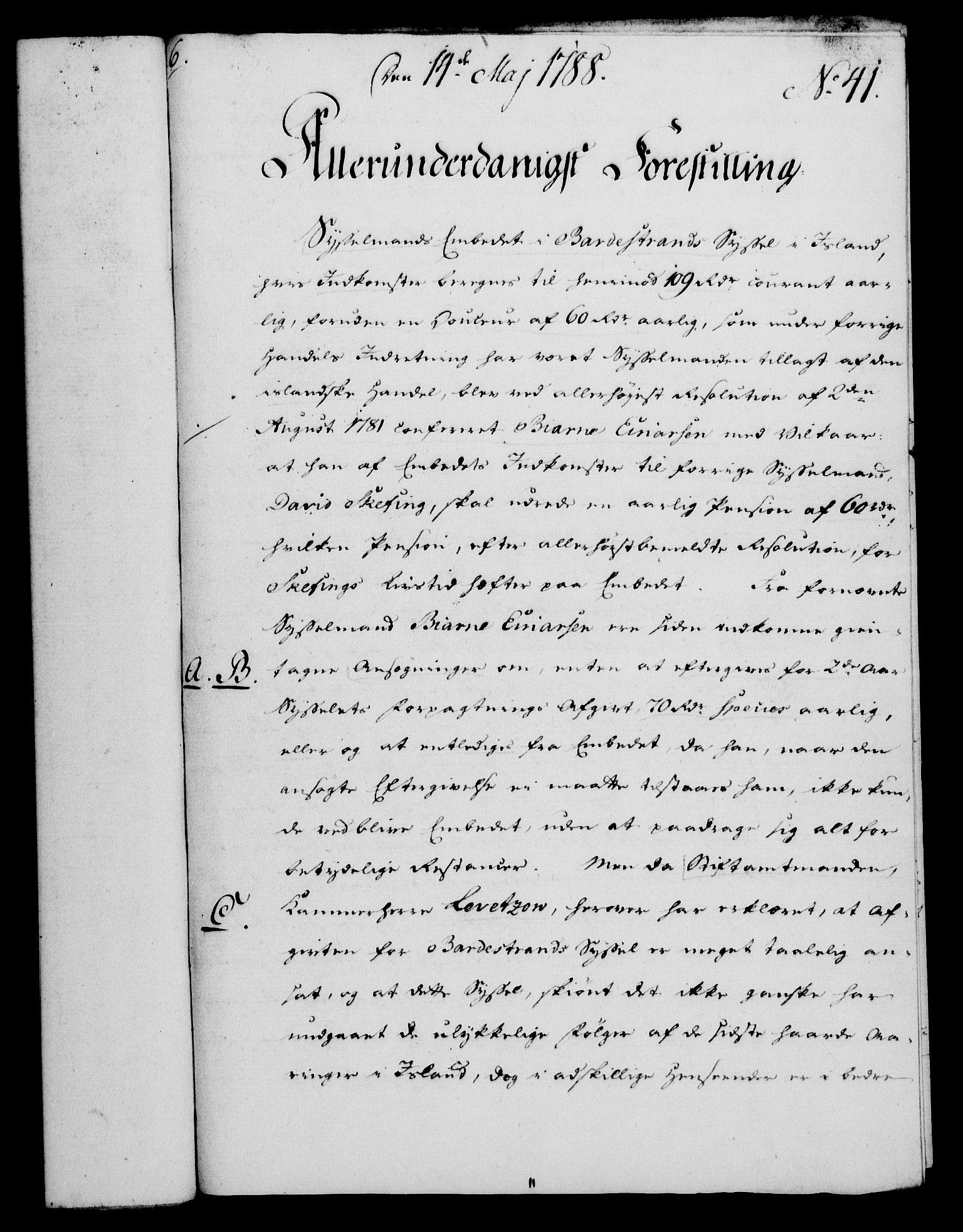 RA, Rentekammeret, Kammerkanselliet, G/Gf/Gfa/L0070: Norsk relasjons- og resolusjonsprotokoll (merket RK 52.70), 1788, s. 245