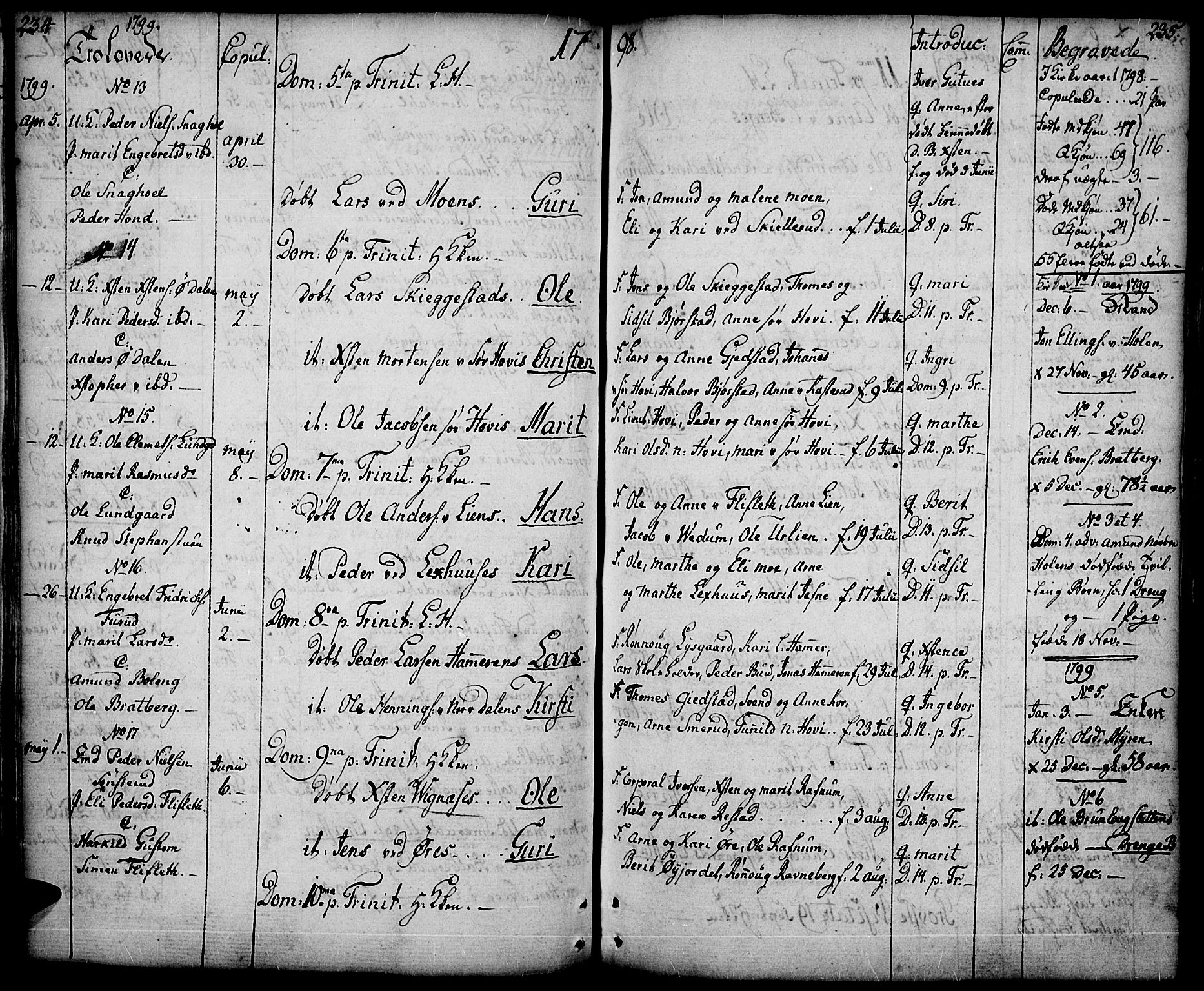 SAH, Fåberg prestekontor, Ministerialbok nr. 2, 1775-1818, s. 234-235