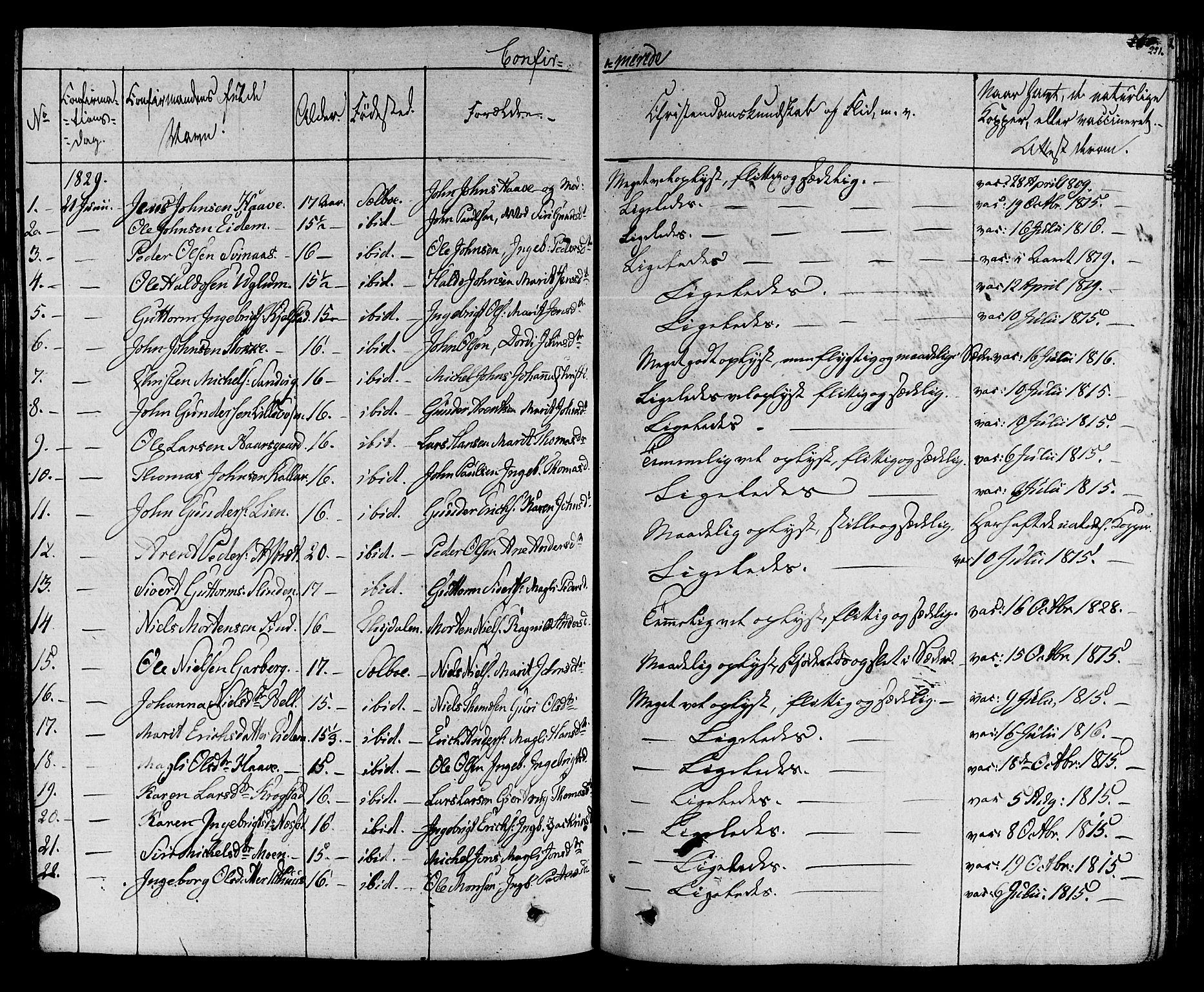SAT, Ministerialprotokoller, klokkerbøker og fødselsregistre - Sør-Trøndelag, 695/L1143: Ministerialbok nr. 695A05 /1, 1824-1842, s. 251