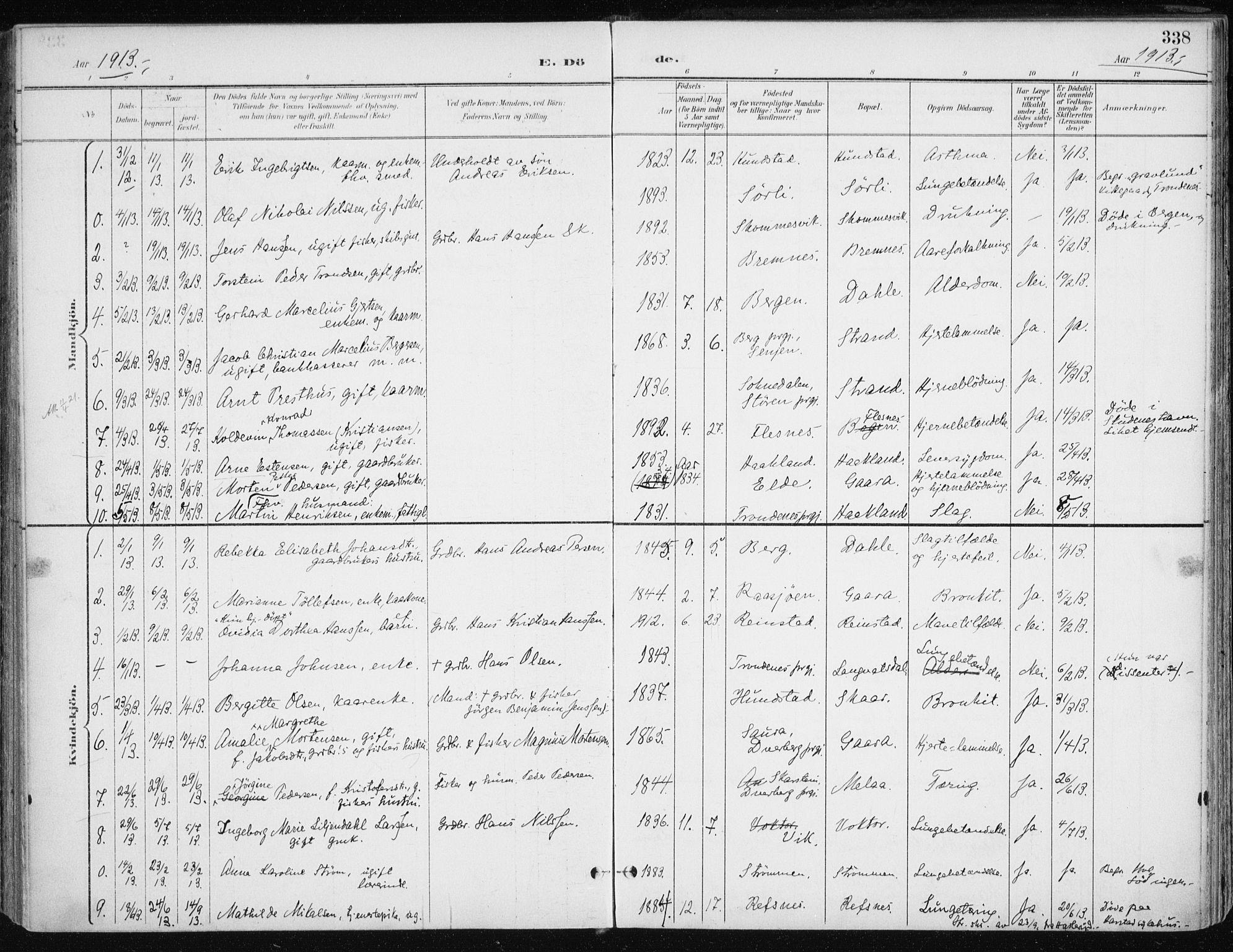 SATØ, Kvæfjord sokneprestkontor, G/Ga/Gaa/L0006kirke: Ministerialbok nr. 6, 1895-1914, s. 338
