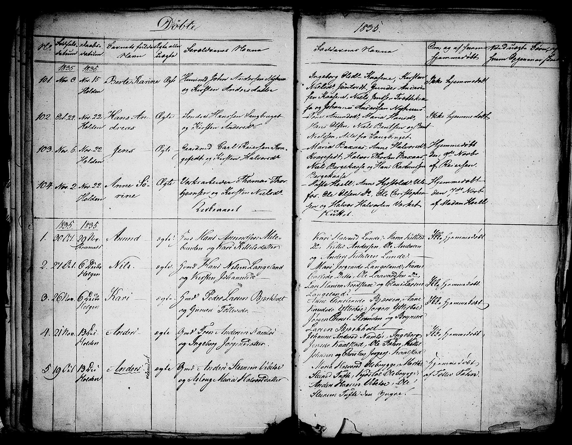 SAKO, Holla kirkebøker, F/Fa/L0004: Ministerialbok nr. 4, 1830-1848, s. 52