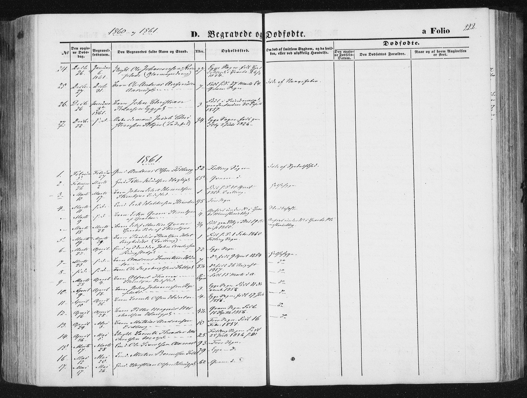SAT, Ministerialprotokoller, klokkerbøker og fødselsregistre - Nord-Trøndelag, 746/L0447: Ministerialbok nr. 746A06, 1860-1877, s. 222