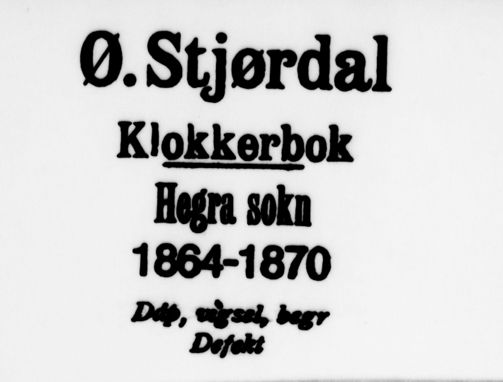 SAT, Ministerialprotokoller, klokkerbøker og fødselsregistre - Nord-Trøndelag, 703/L0038: Klokkerbok nr. 703C01, 1864-1870