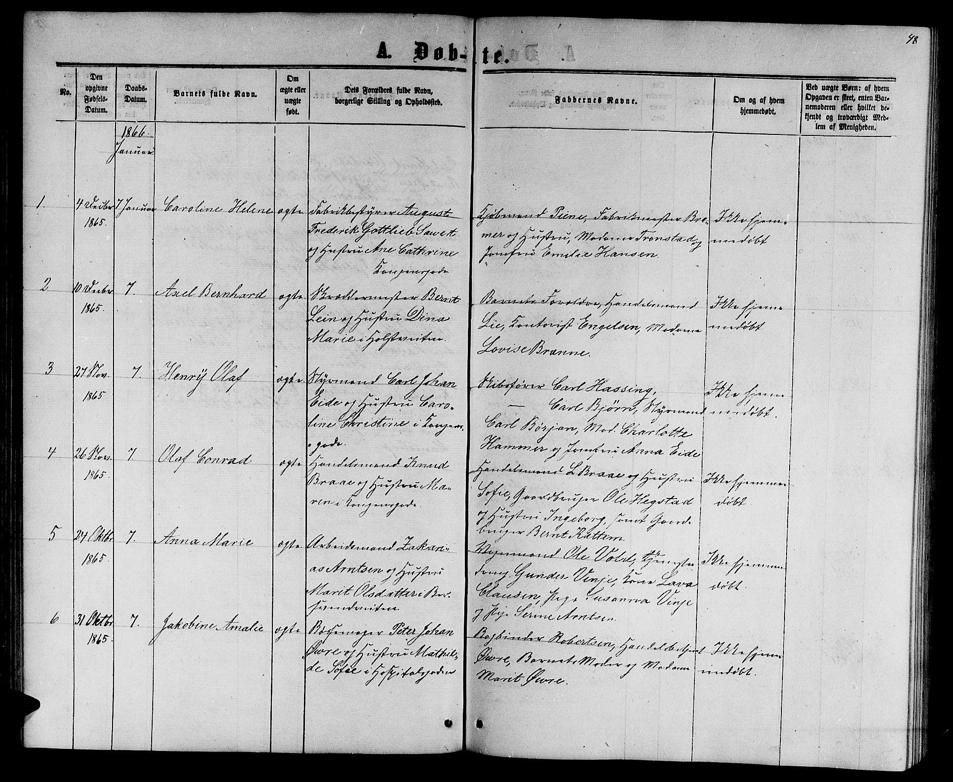 SAT, Ministerialprotokoller, klokkerbøker og fødselsregistre - Sør-Trøndelag, 601/L0087: Klokkerbok nr. 601C05, 1864-1881, s. 48