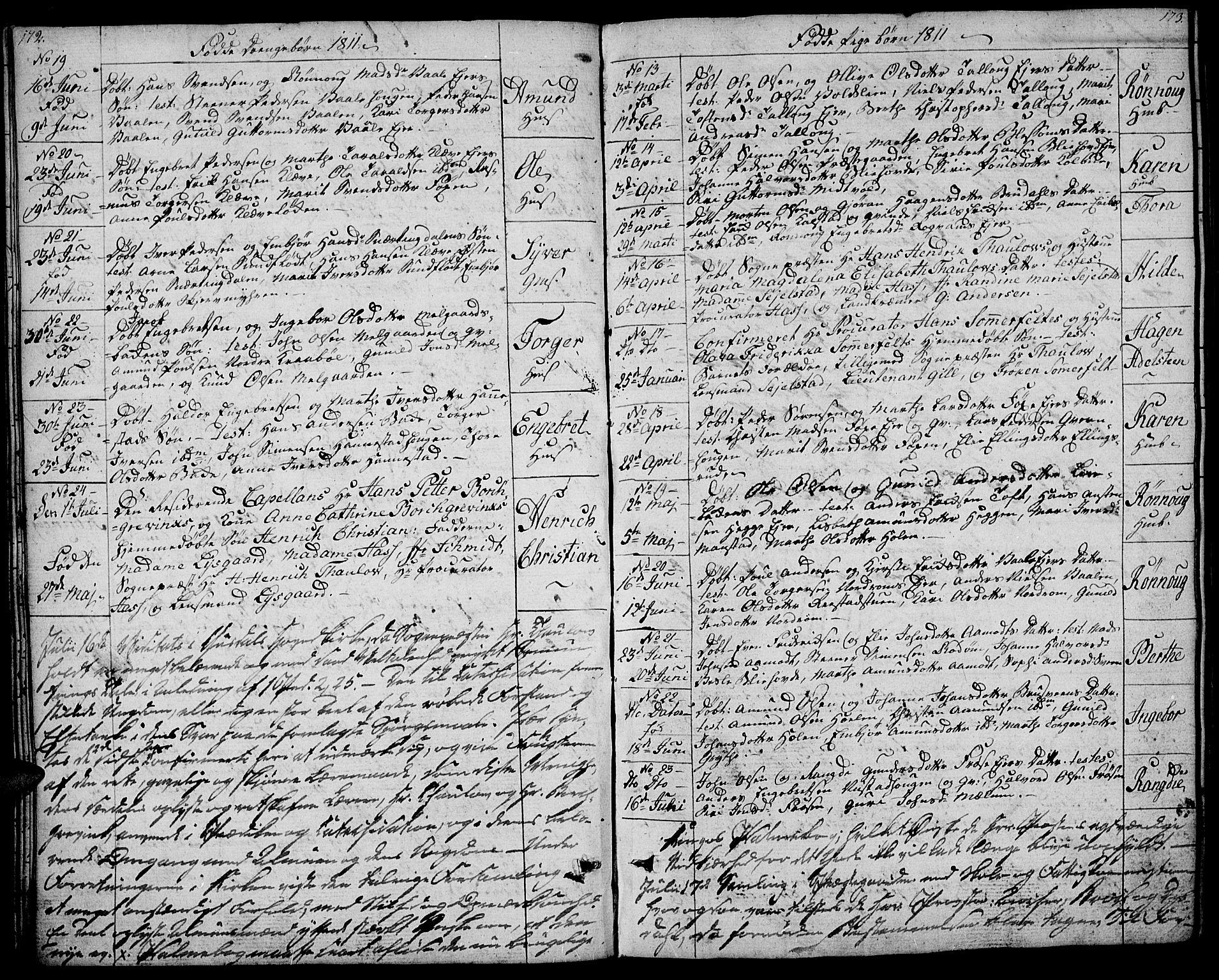 SAH, Gausdal prestekontor, Ministerialbok nr. 4, 1809-1817, s. 172-173