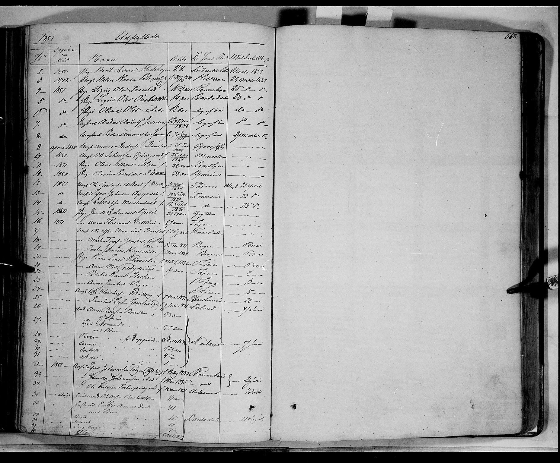 SAH, Lom prestekontor, K/L0006: Ministerialbok nr. 6B, 1837-1863, s. 562
