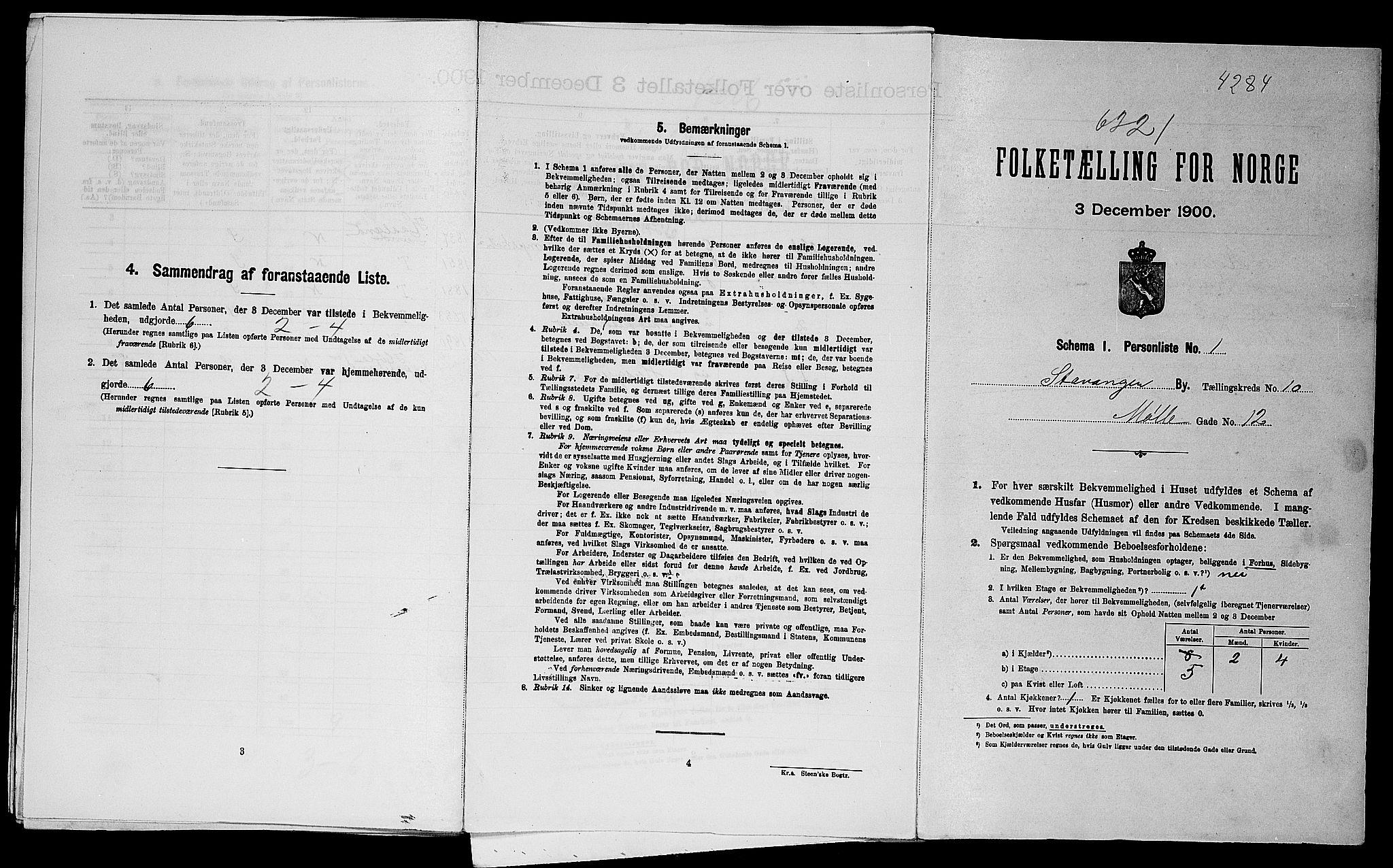 SAST, Folketelling 1900 for 1103 Stavanger kjøpstad, 1900, s. 18513