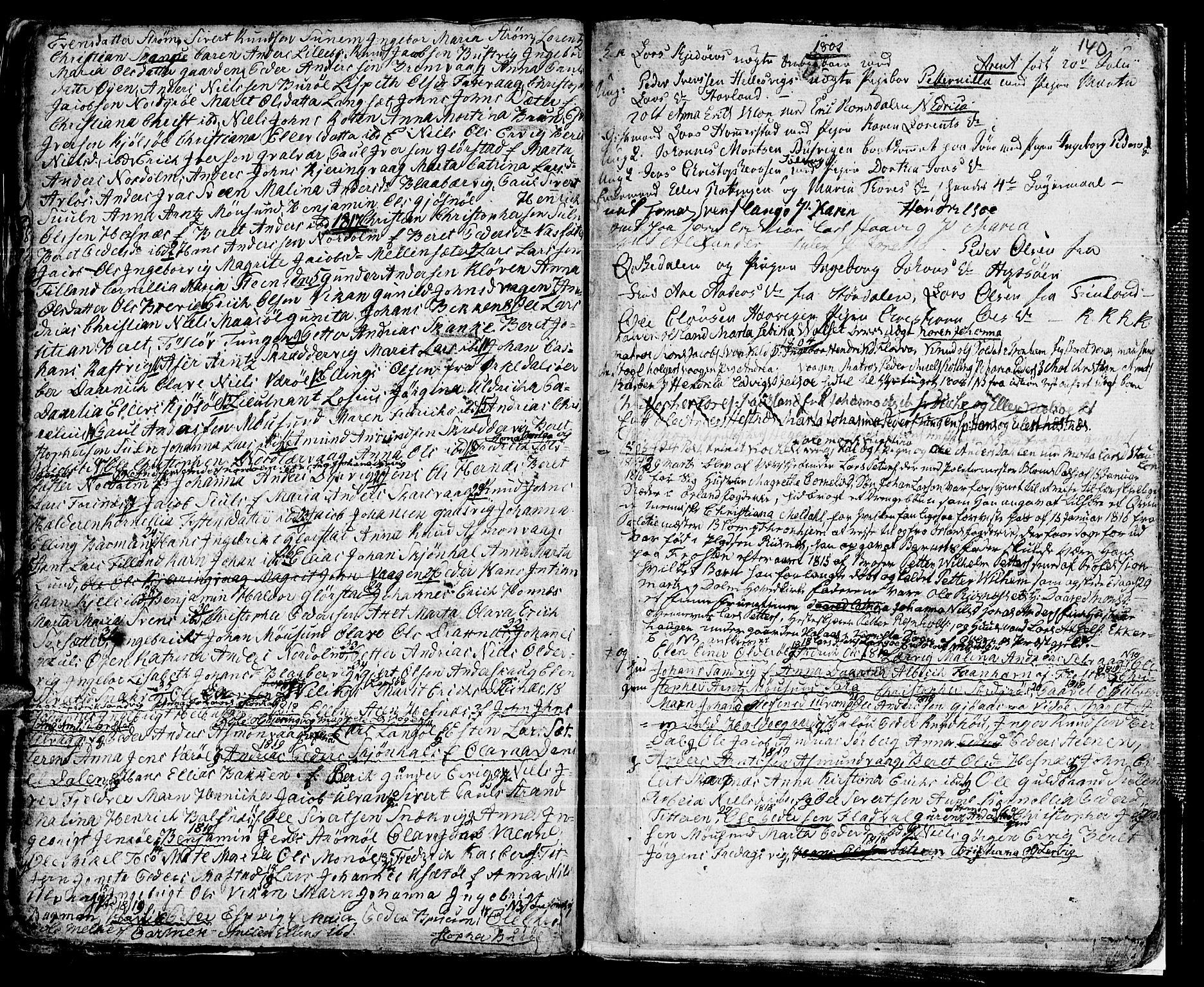 SAT, Ministerialprotokoller, klokkerbøker og fødselsregistre - Sør-Trøndelag, 634/L0526: Ministerialbok nr. 634A02, 1775-1818, s. 140
