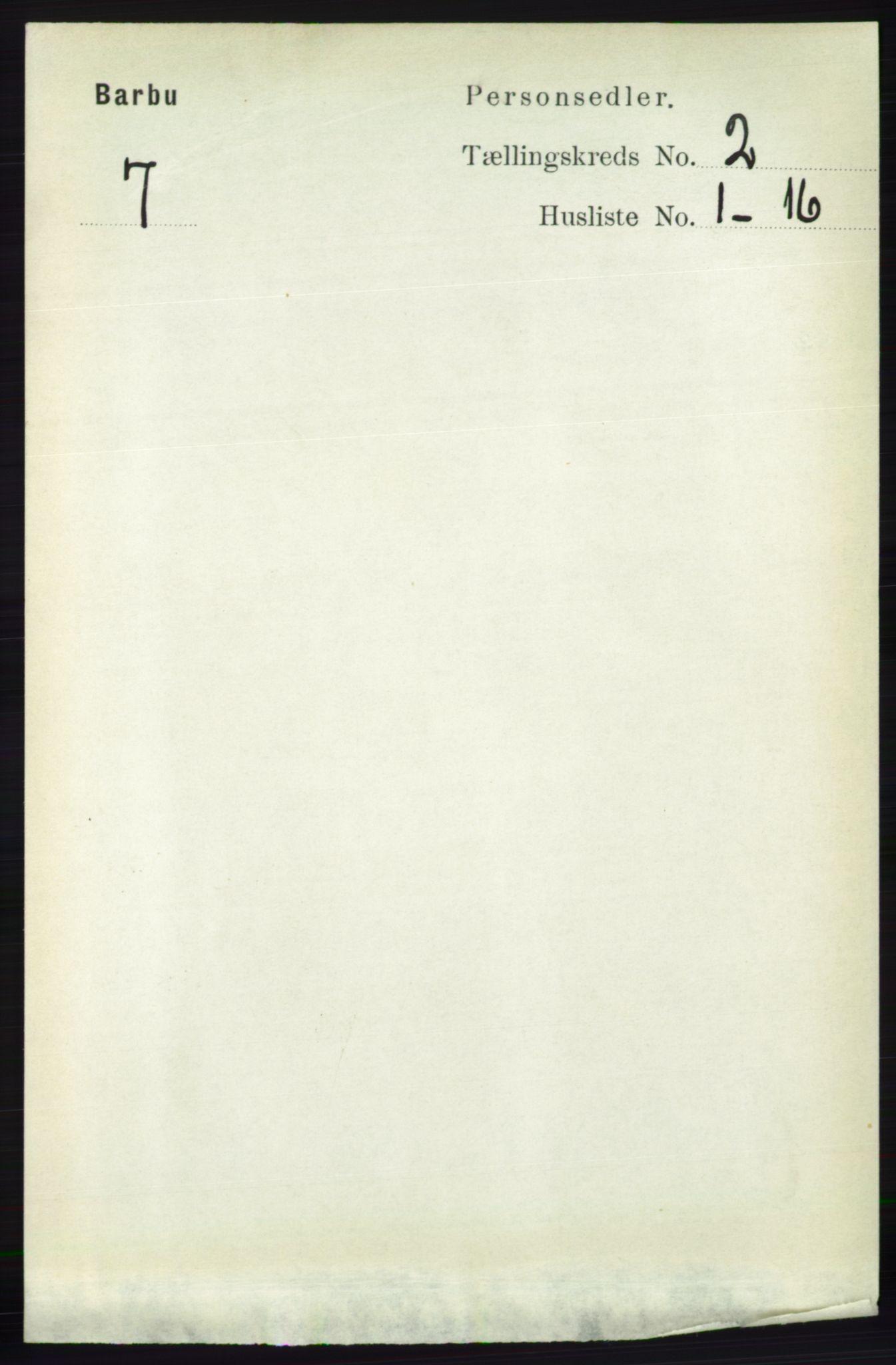 RA, Folketelling 1891 for 0990 Barbu herred, 1891, s. 897