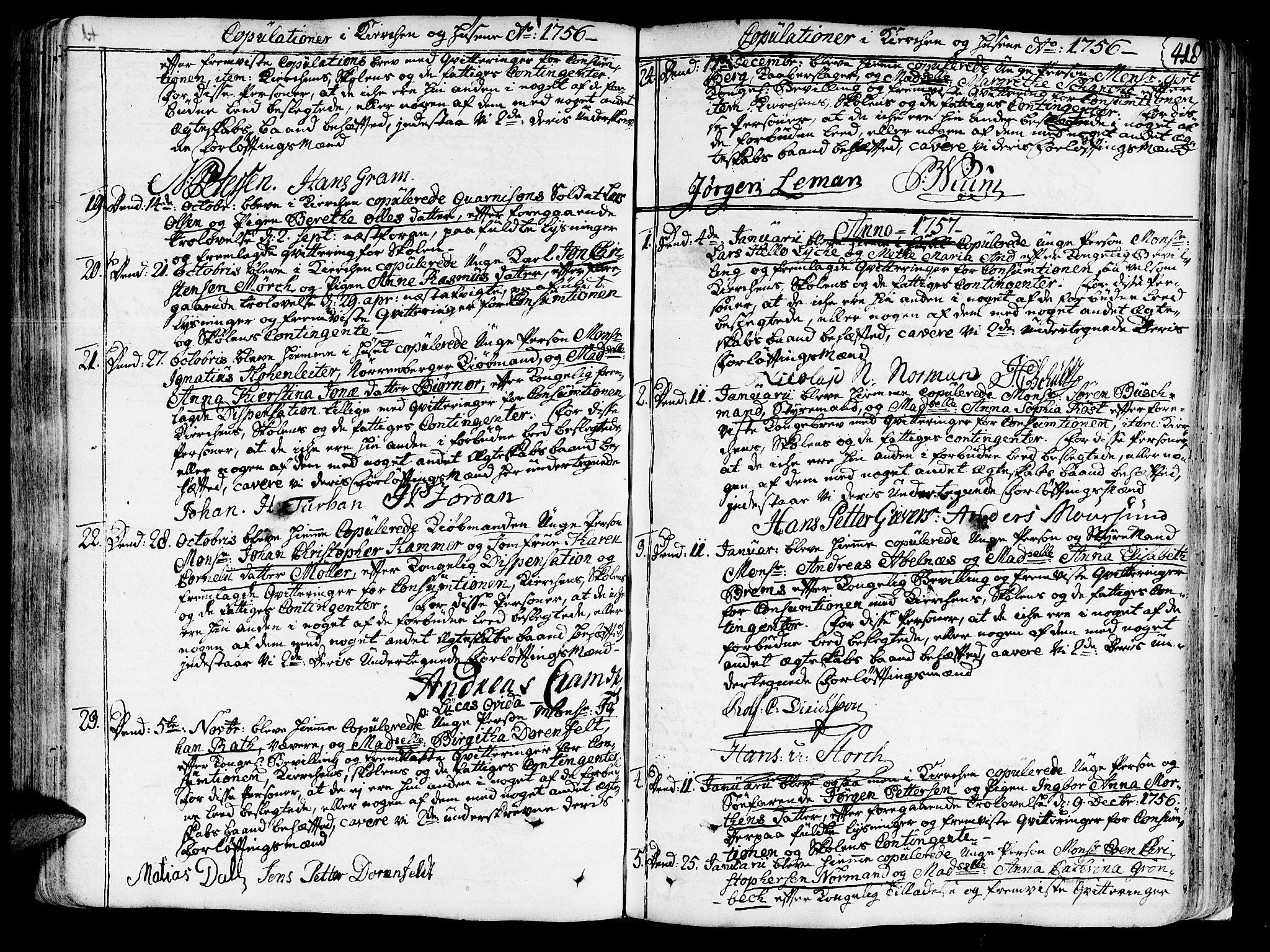 SAT, Ministerialprotokoller, klokkerbøker og fødselsregistre - Sør-Trøndelag, 602/L0103: Ministerialbok nr. 602A01, 1732-1774, s. 418