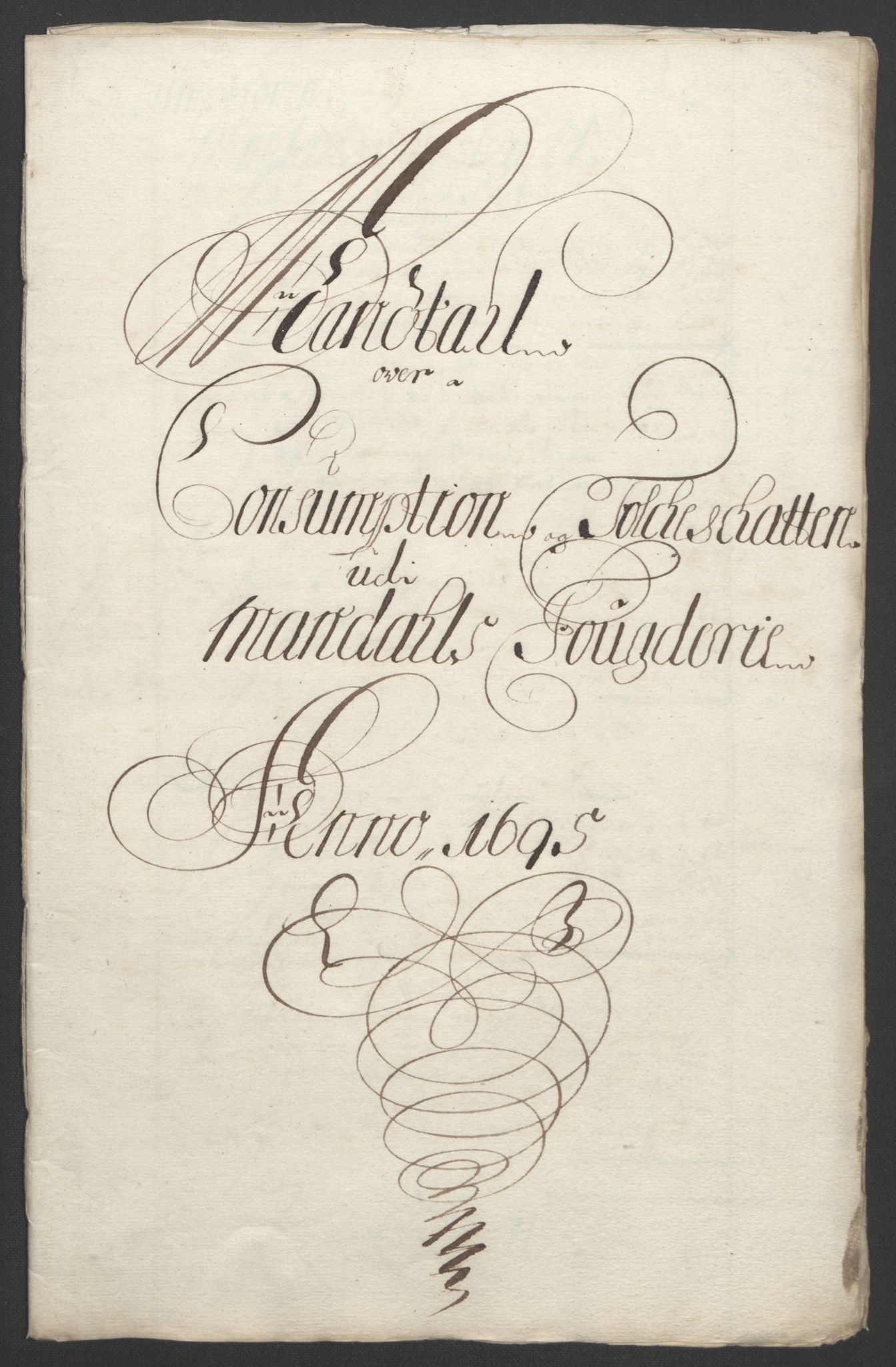 RA, Rentekammeret inntil 1814, Reviderte regnskaper, Fogderegnskap, R43/L2545: Fogderegnskap Lista og Mandal, 1694-1695, s. 260