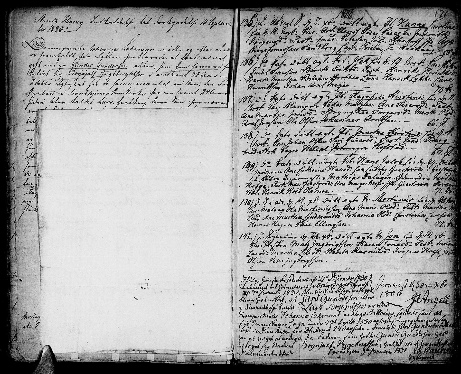 SAT, Ministerialprotokoller, klokkerbøker og fødselsregistre - Sør-Trøndelag, 601/L0039: Ministerialbok nr. 601A07, 1770-1819, s. 171