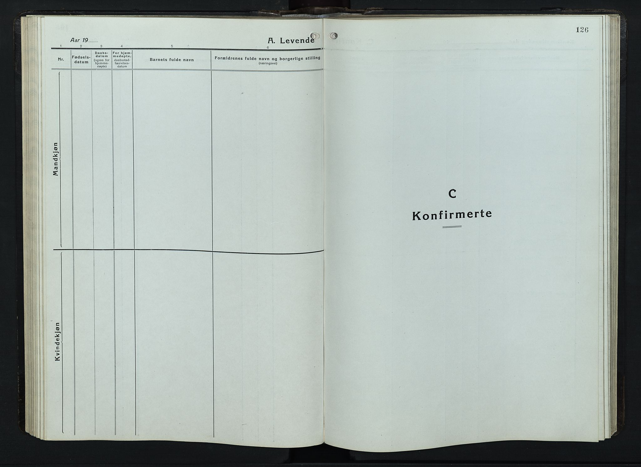 SAH, Balke prestekontor, Klokkerbok nr. 1, 1920-1955, s. 126