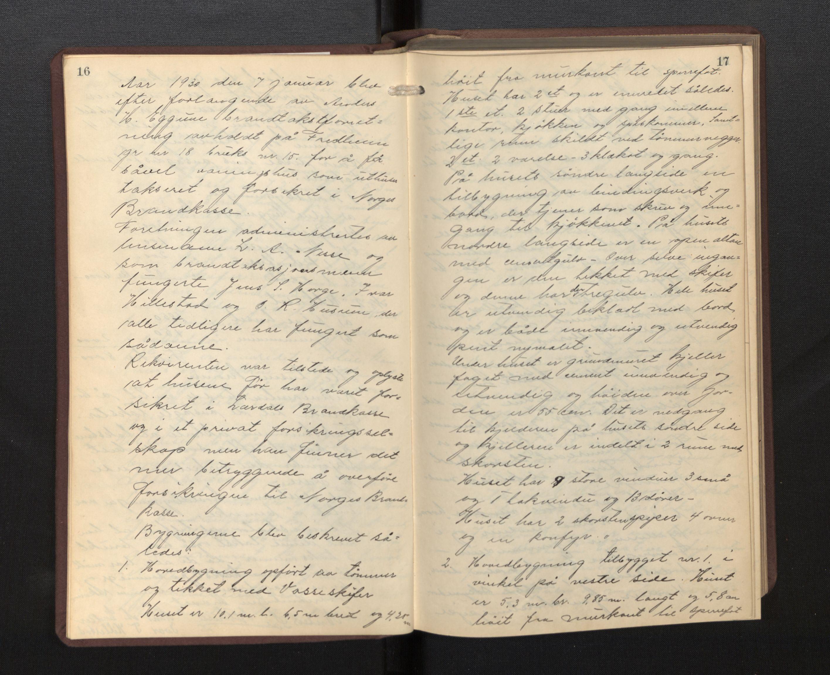 SAB, Lensmannen i Borgund, 0012/L0002: Branntakstprotokoll, 1929-1933, s. 16-17