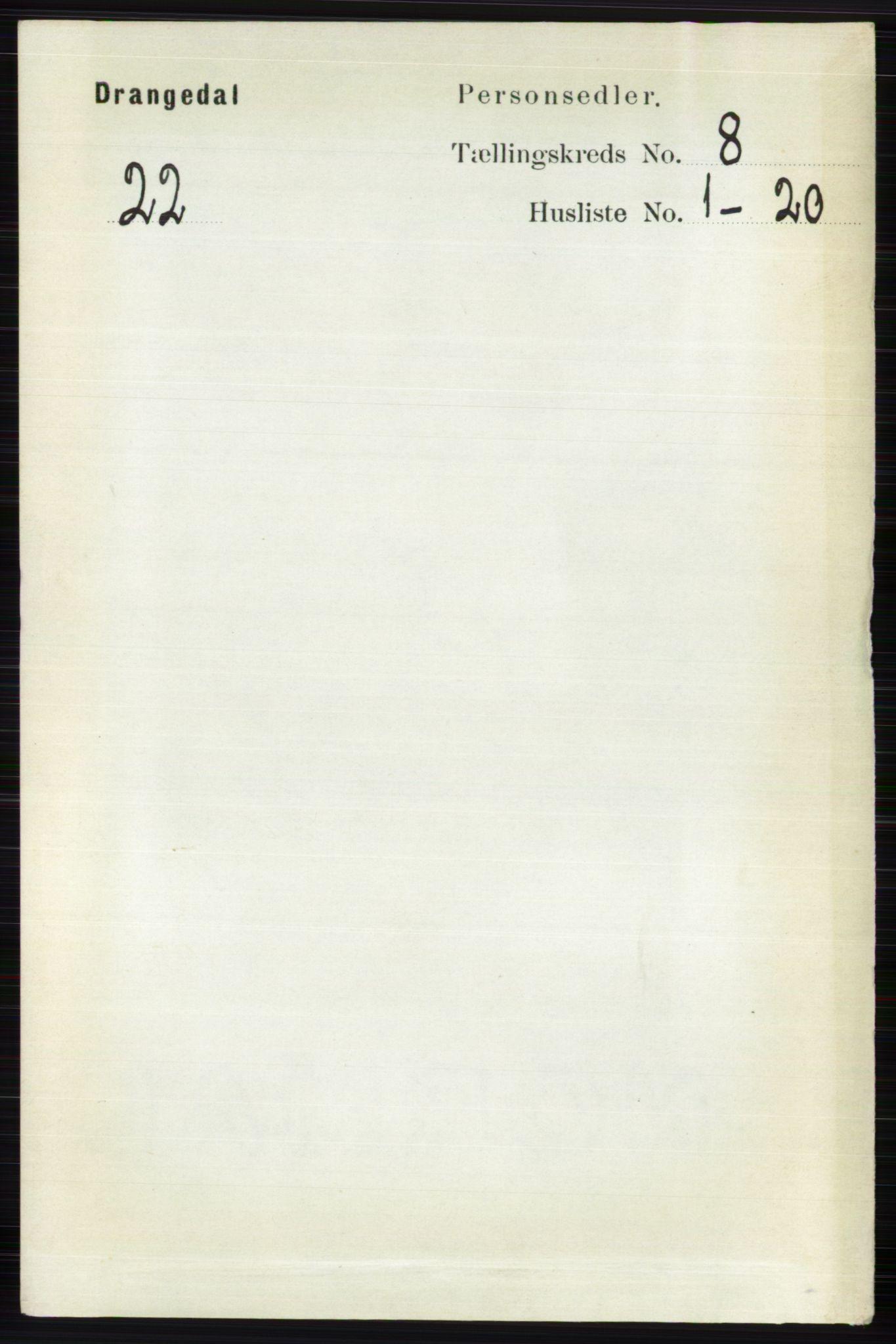 RA, Folketelling 1891 for 0817 Drangedal herred, 1891, s. 2643