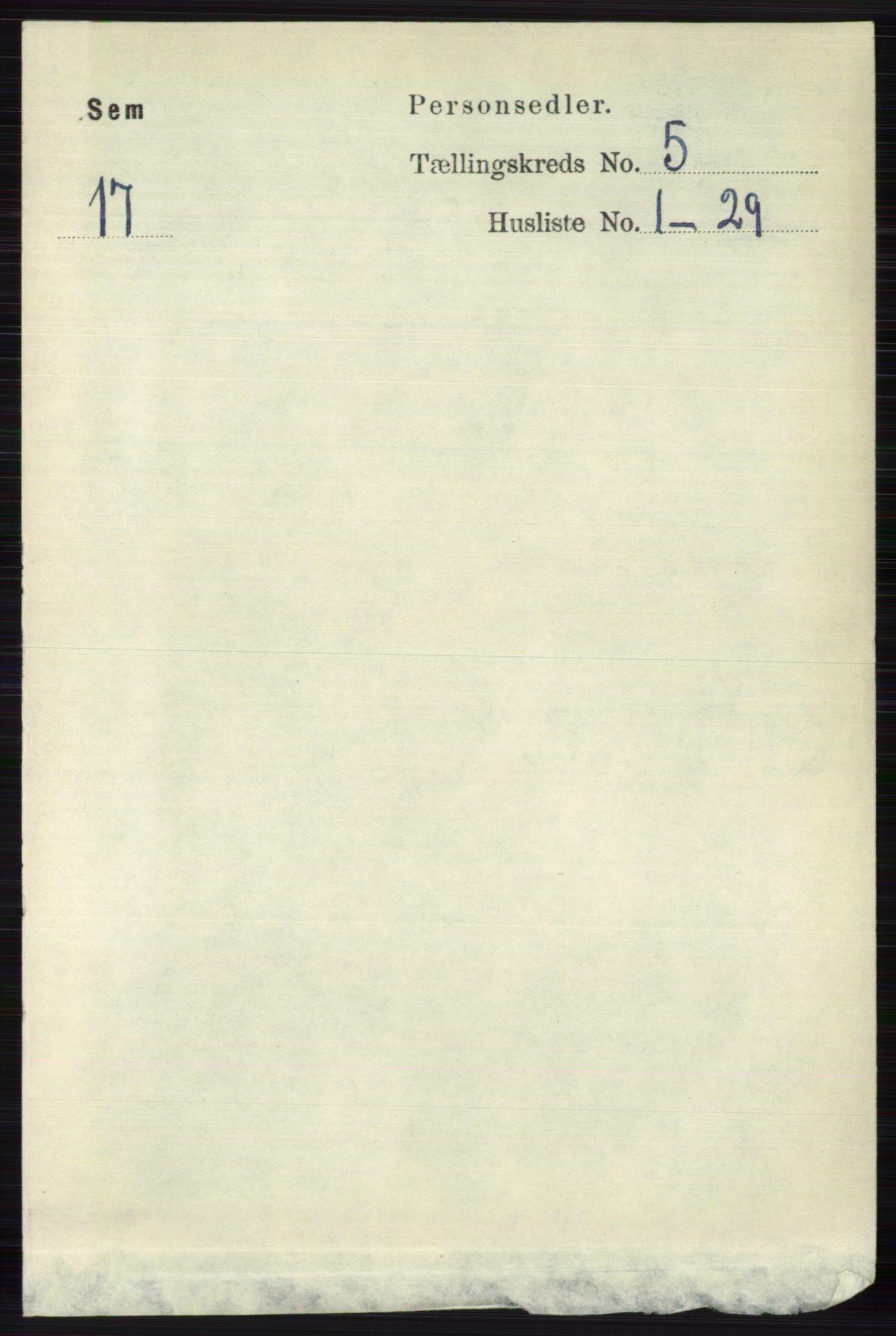 RA, Folketelling 1891 for 0721 Sem herred, 1891, s. 2061