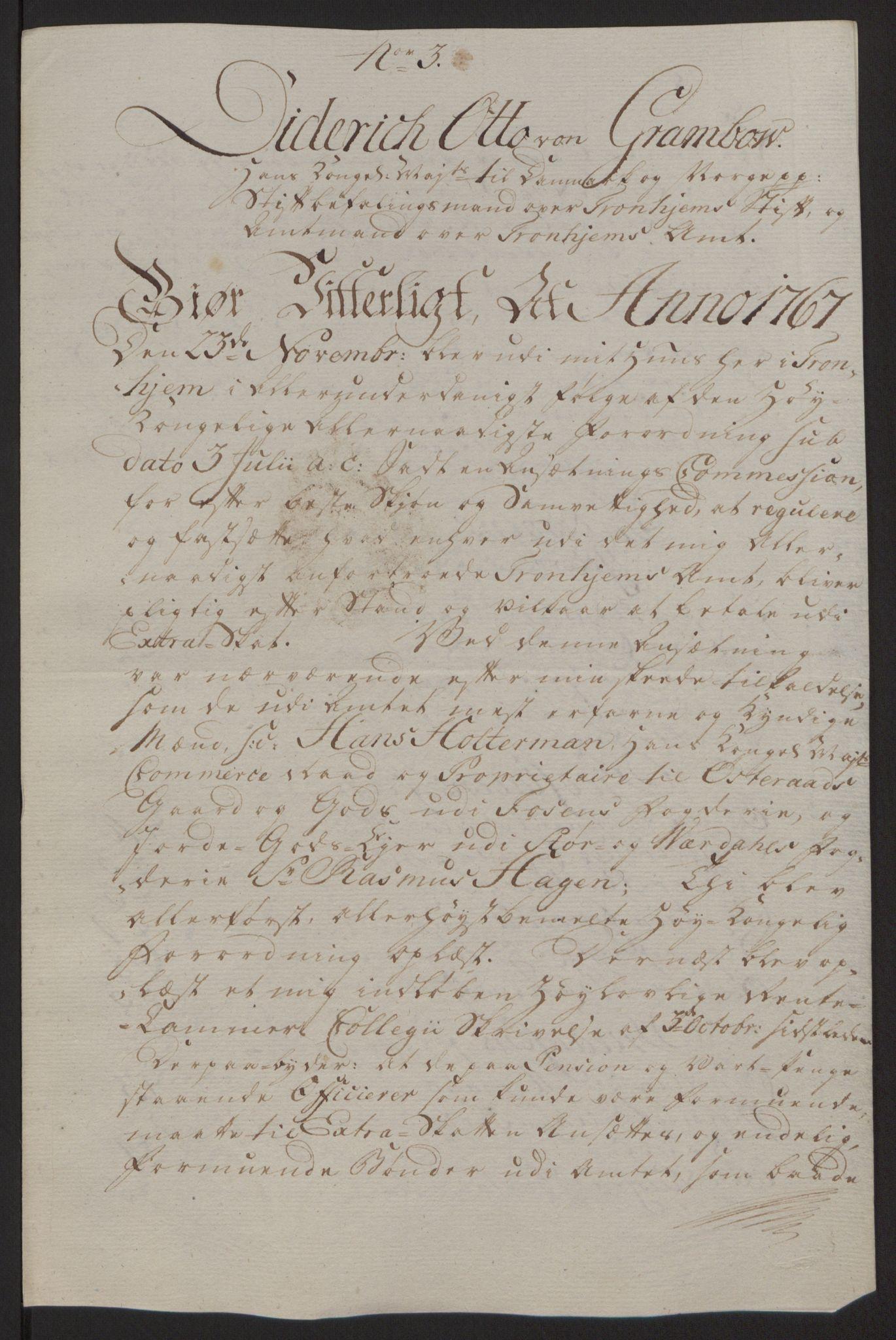 RA, Rentekammeret inntil 1814, Reviderte regnskaper, Fogderegnskap, R63/L4420: Ekstraskatten Inderøy, 1762-1772, s. 392