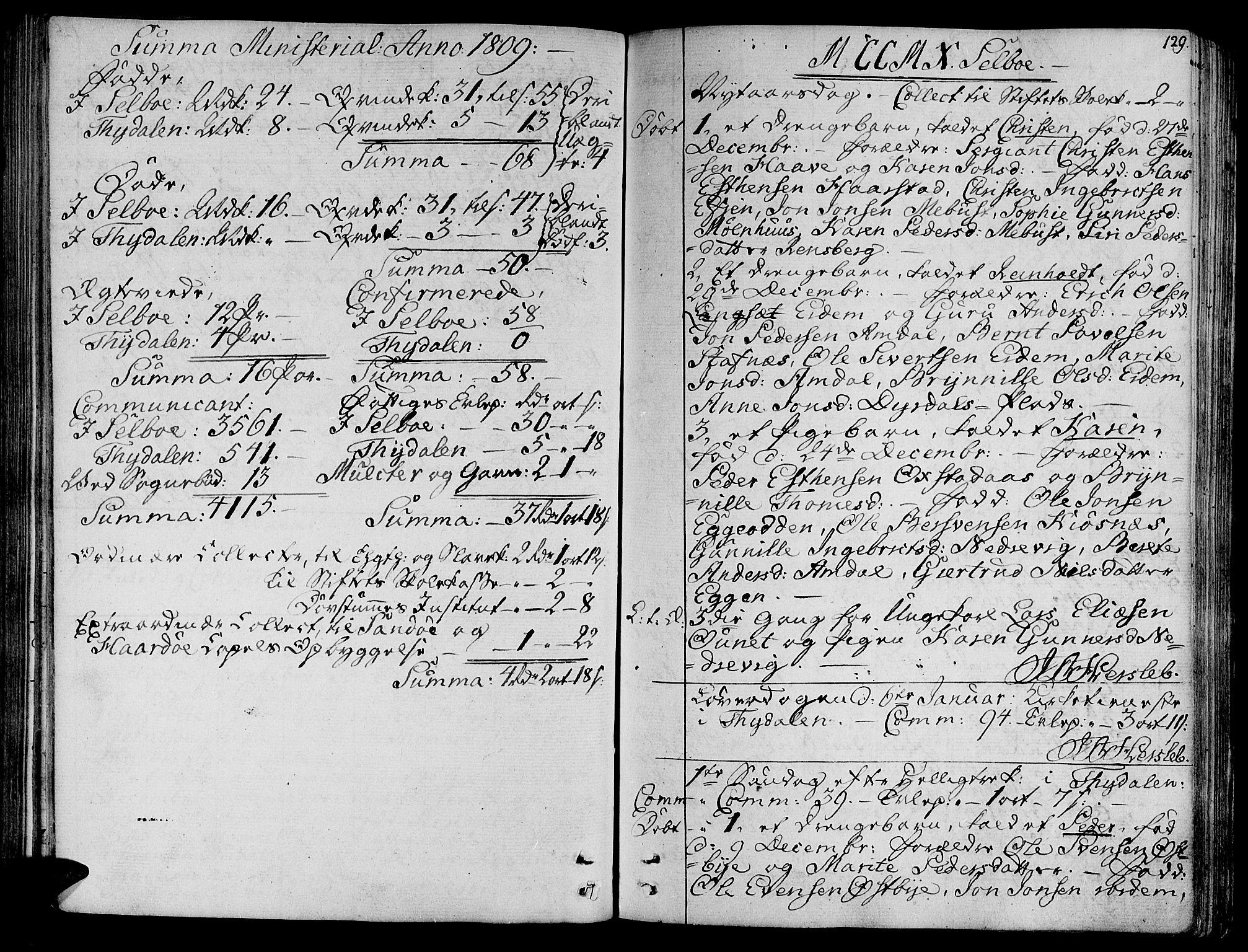 SAT, Ministerialprotokoller, klokkerbøker og fødselsregistre - Sør-Trøndelag, 695/L1140: Ministerialbok nr. 695A03, 1801-1815, s. 129