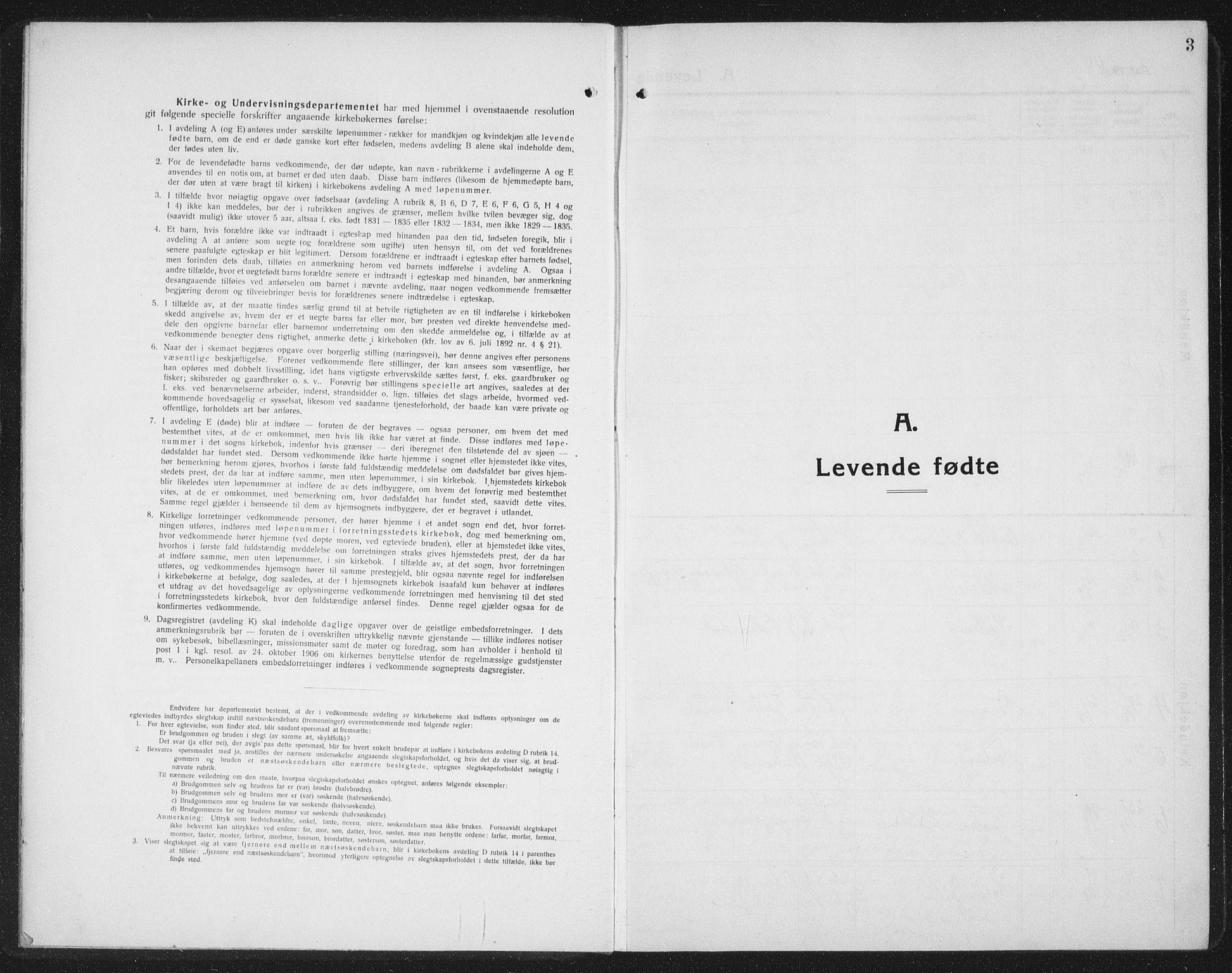 SAT, Ministerialprotokoller, klokkerbøker og fødselsregistre - Nord-Trøndelag, 745/L0434: Klokkerbok nr. 745C03, 1914-1937, s. 3