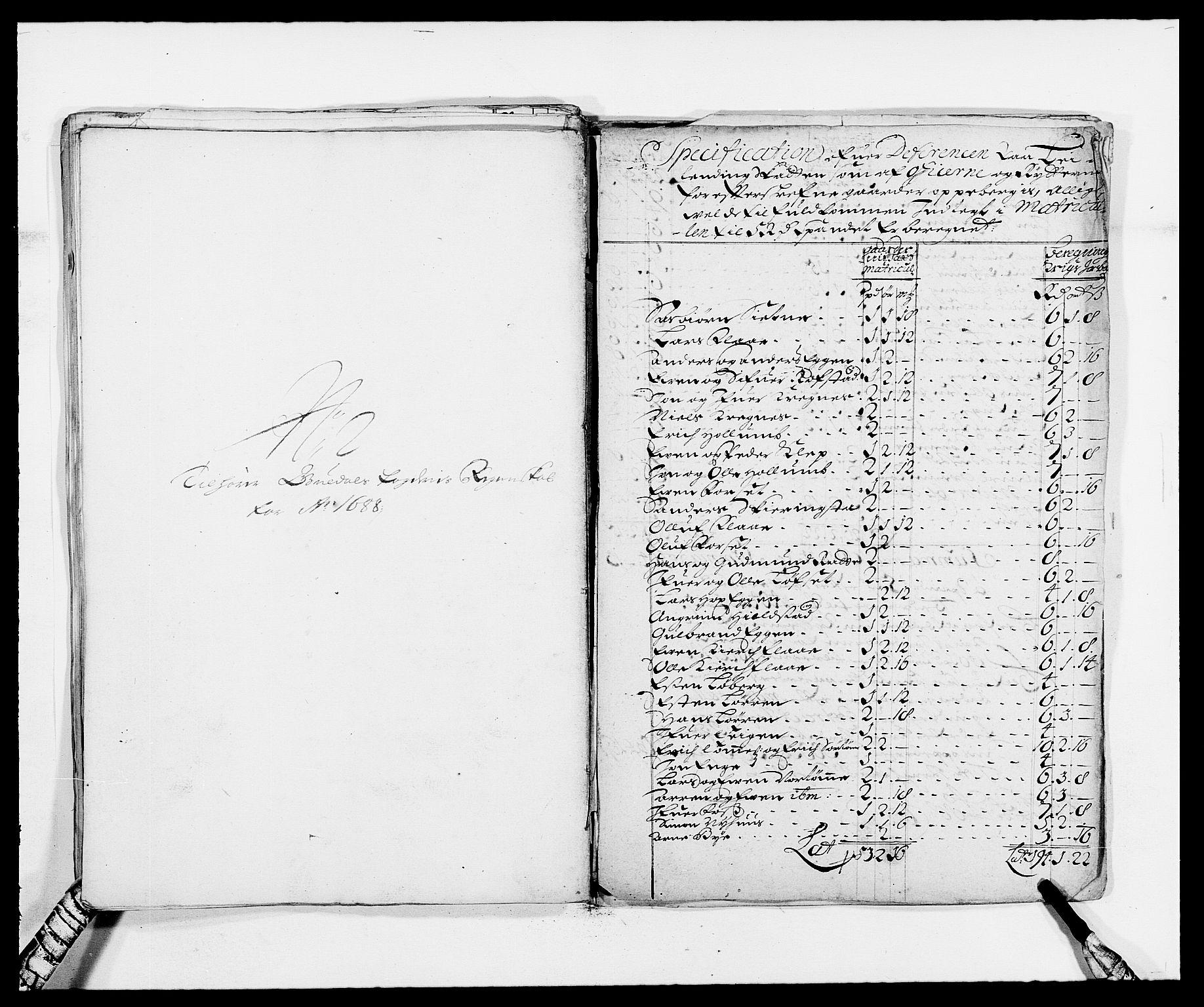 RA, Rentekammeret inntil 1814, Reviderte regnskaper, Fogderegnskap, R59/L3939: Fogderegnskap Gauldal, 1687-1688, s. 342