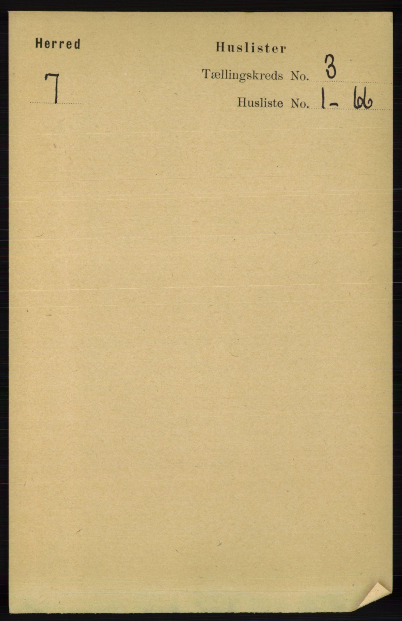 RA, Folketelling 1891 for 1039 Herad herred, 1891, s. 909
