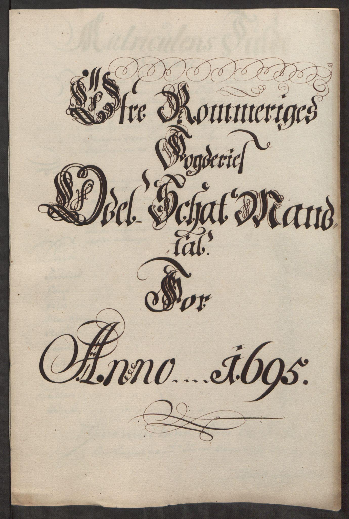RA, Rentekammeret inntil 1814, Reviderte regnskaper, Fogderegnskap, R12/L0707: Fogderegnskap Øvre Romerike, 1695, s. 220