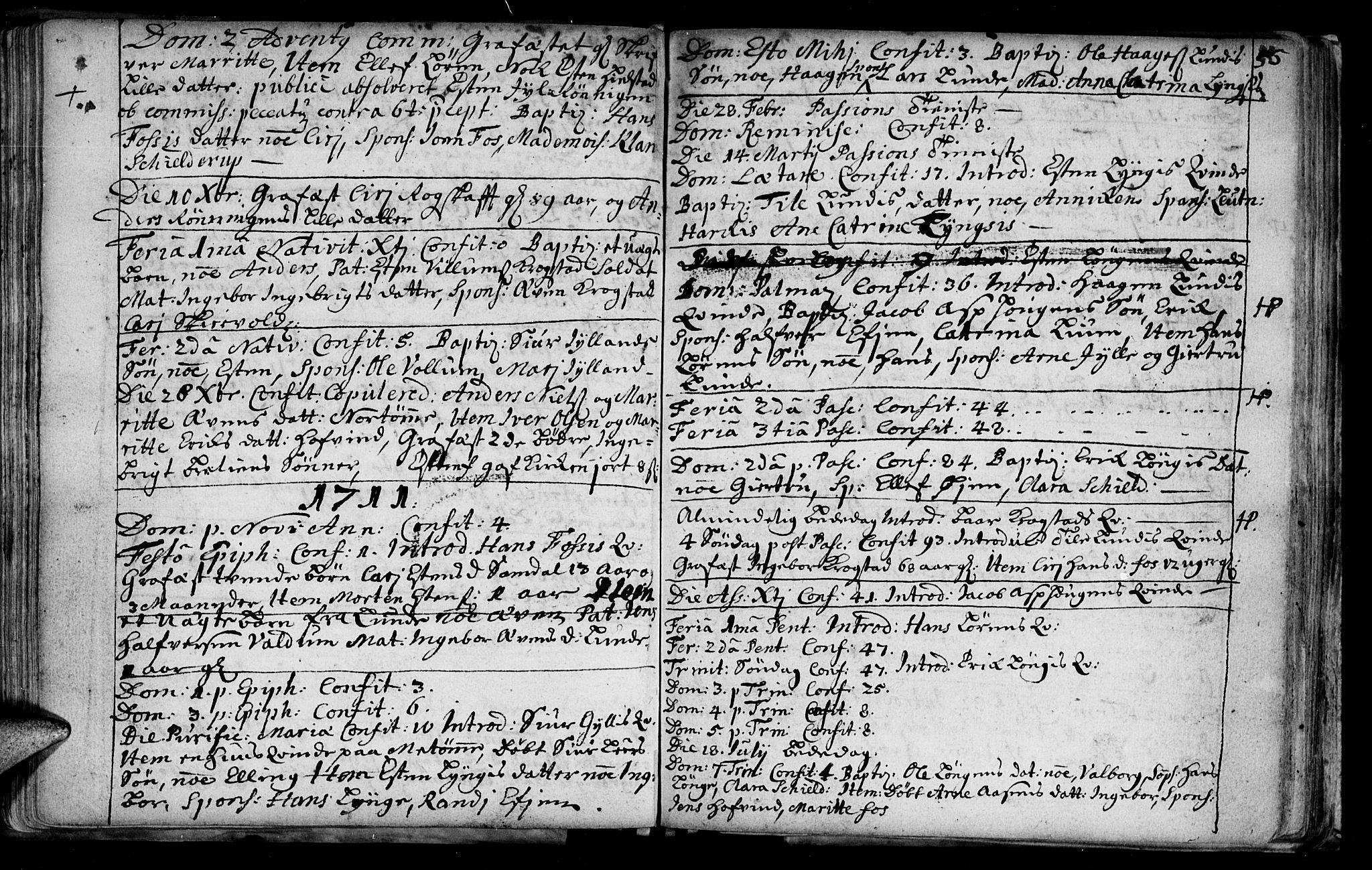 SAT, Ministerialprotokoller, klokkerbøker og fødselsregistre - Sør-Trøndelag, 692/L1101: Ministerialbok nr. 692A01, 1690-1746, s. 56