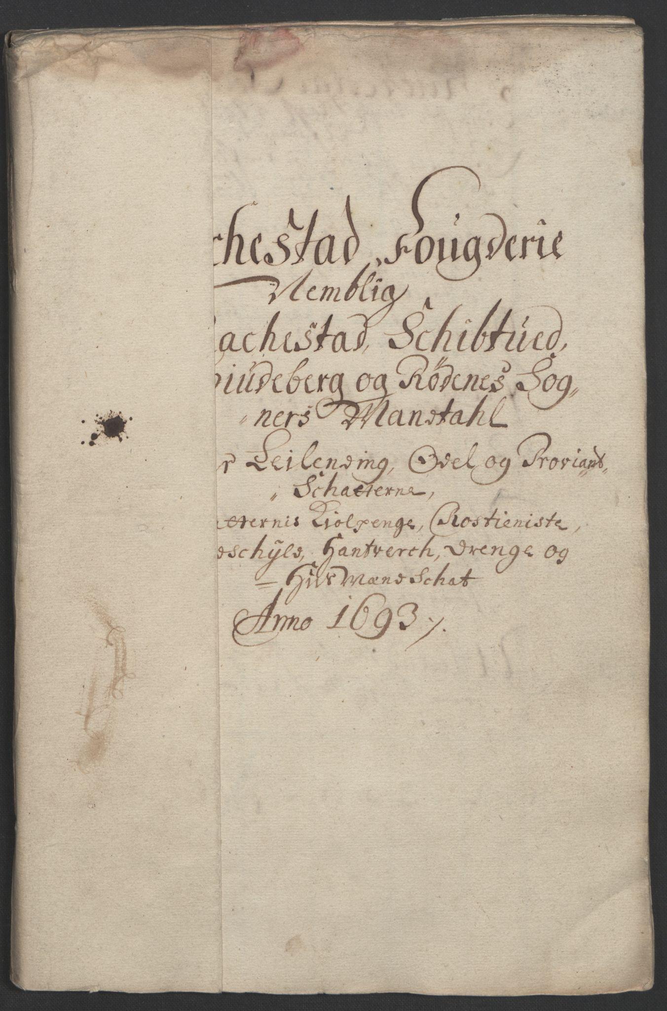 RA, Rentekammeret inntil 1814, Reviderte regnskaper, Fogderegnskap, R05/L0278: Fogderegnskap Rakkestad, 1691-1693, s. 397