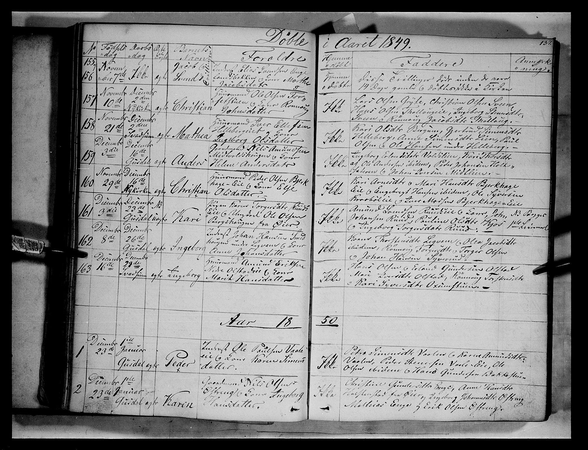 SAH, Gausdal prestekontor, Ministerialbok nr. 7, 1840-1850, s. 137