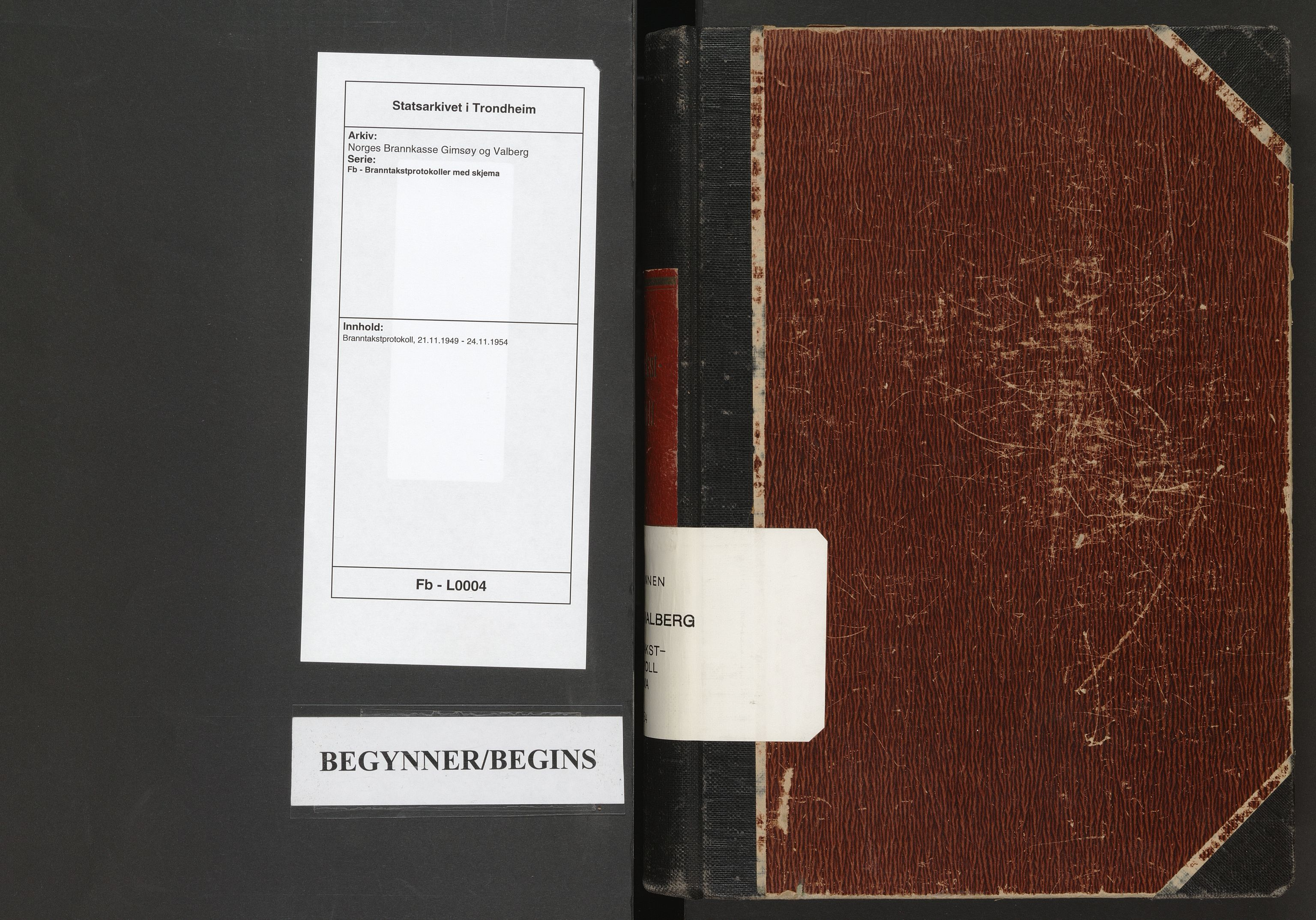 SAT, Norges Brannkasse Gimsøy og Valberg, Fb/L0004: Branntakstprotokoll, 1949-1954