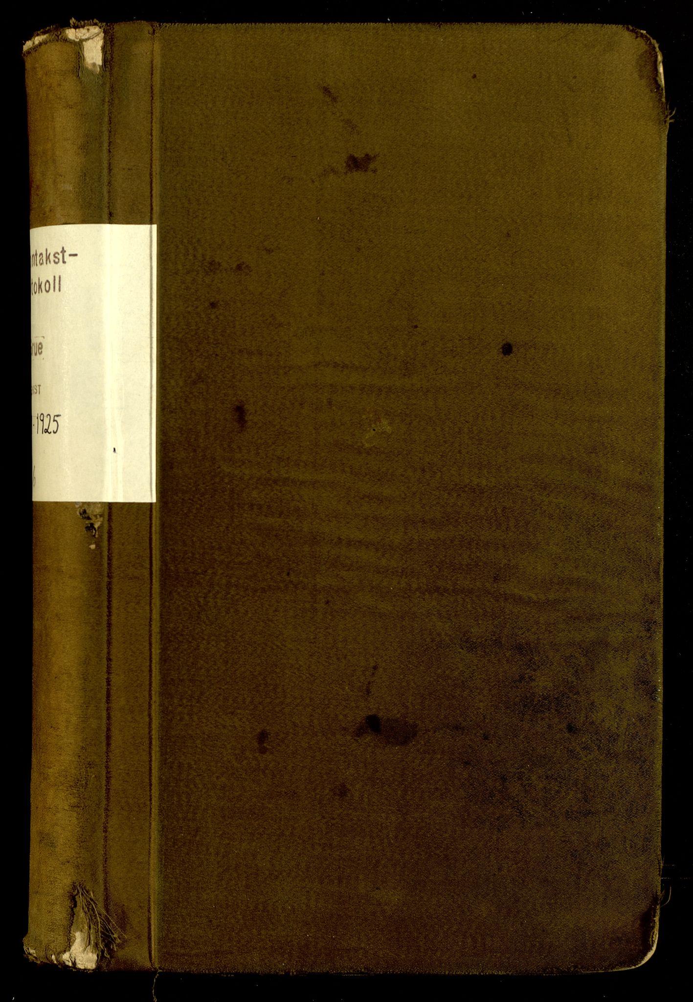 SAH, Norges Brannkasse, Grue, F/L0006: Branntakstprotokoll, 1919-1925