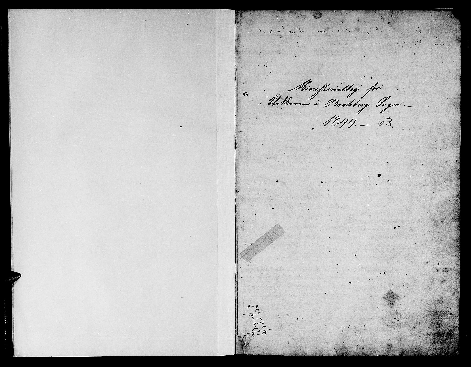 SAT, Ministerialprotokoller, klokkerbøker og fødselsregistre - Sør-Trøndelag, 608/L0339: Klokkerbok nr. 608C05, 1844-1863, s. 0-1
