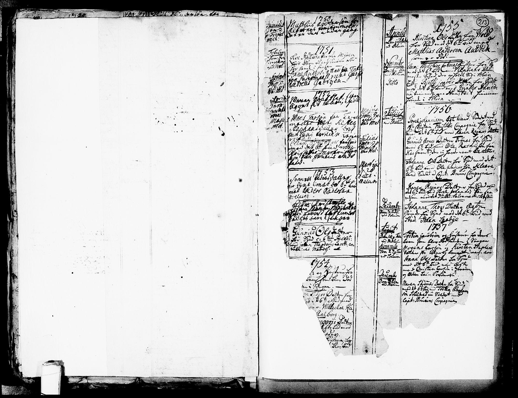 SAKO, Solum kirkebøker, F/Fa/L0002: Ministerialbok nr. I 2, 1713-1761, s. 213