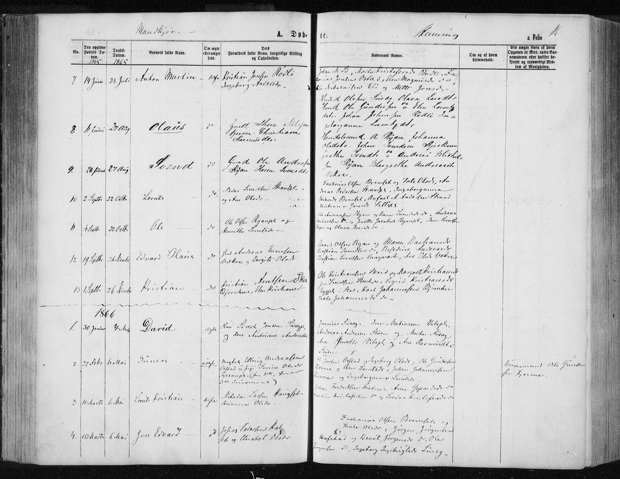 SAT, Ministerialprotokoller, klokkerbøker og fødselsregistre - Nord-Trøndelag, 735/L0345: Ministerialbok nr. 735A08 /3, 1863-1872, s. 116