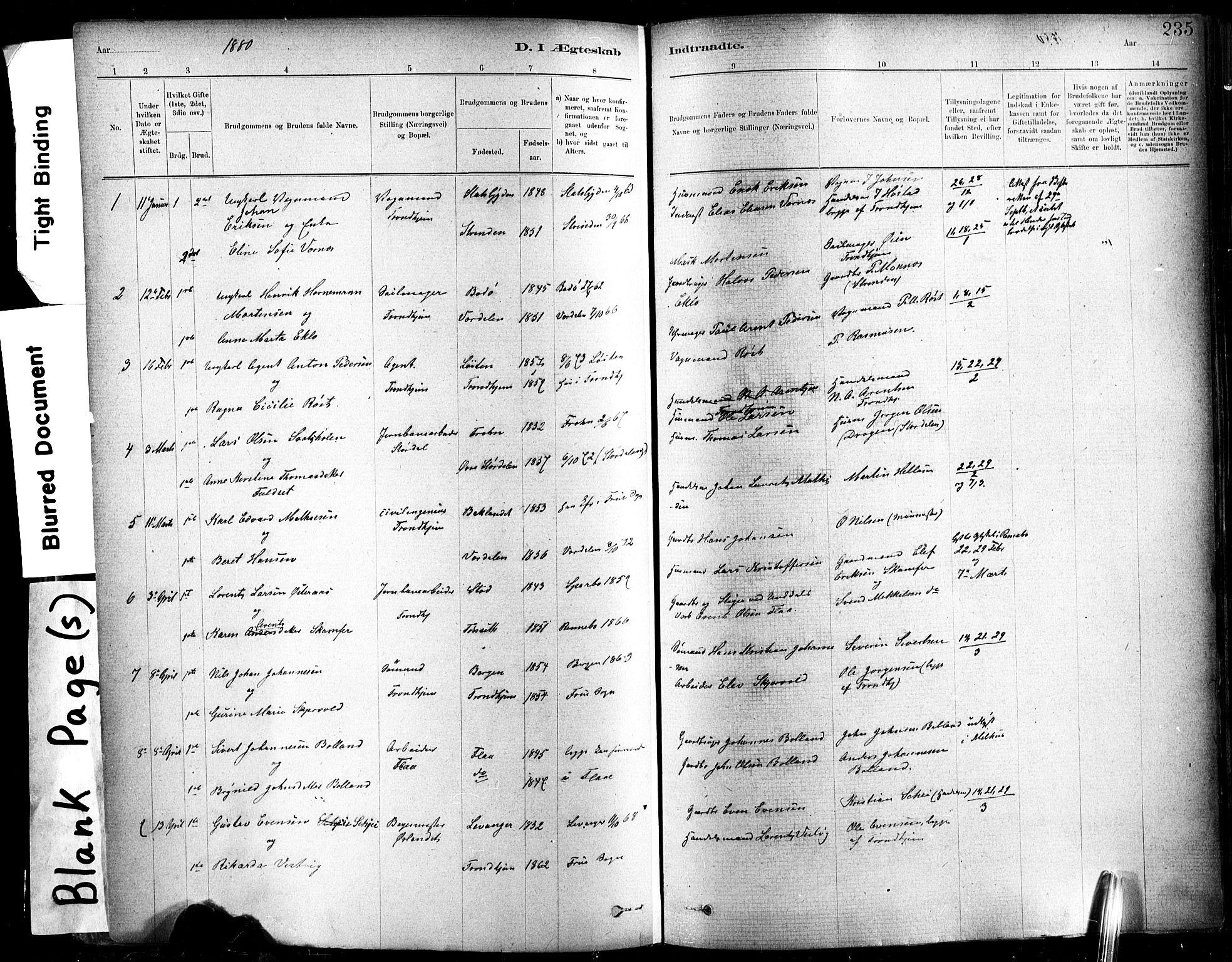 SAT, Ministerialprotokoller, klokkerbøker og fødselsregistre - Sør-Trøndelag, 602/L0119: Ministerialbok nr. 602A17, 1880-1901, s. 235