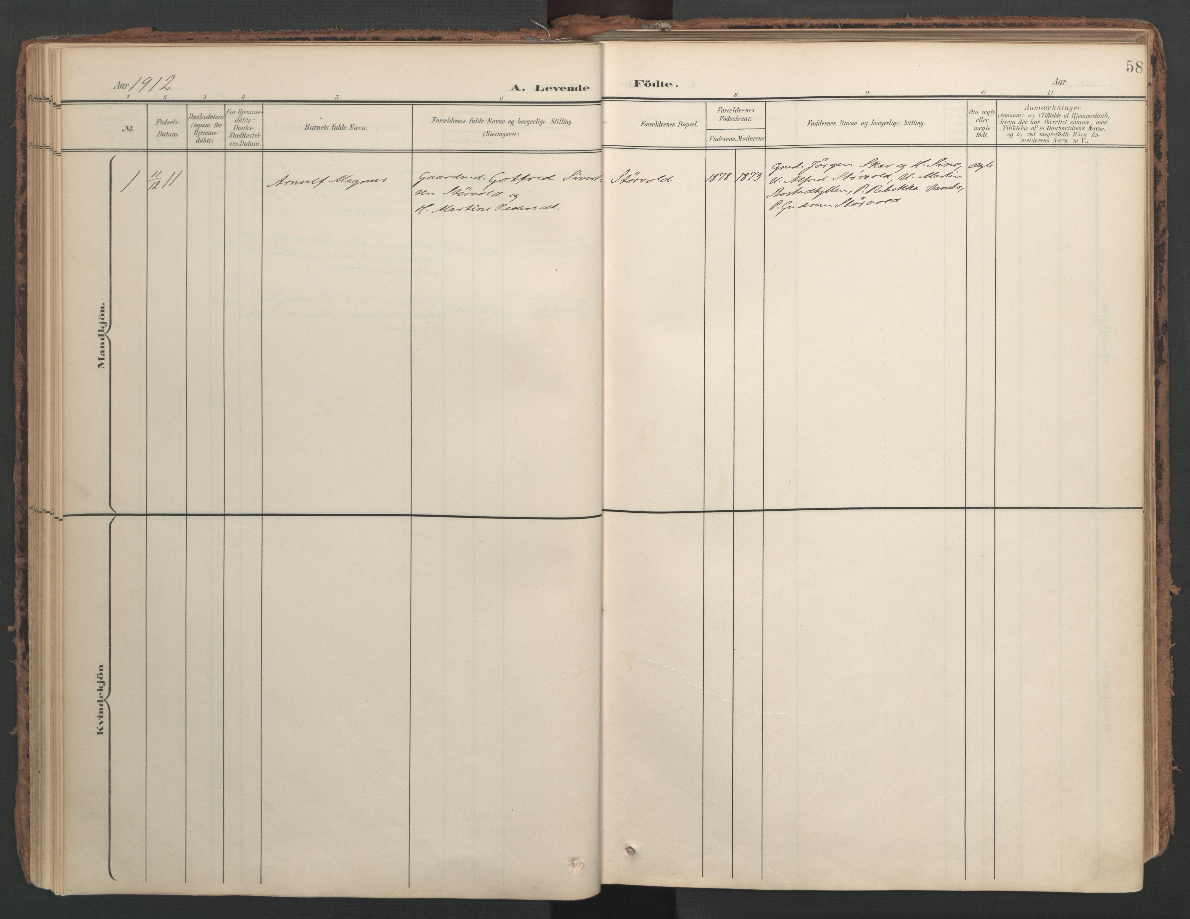 SAT, Ministerialprotokoller, klokkerbøker og fødselsregistre - Nord-Trøndelag, 741/L0397: Ministerialbok nr. 741A11, 1901-1911, s. 58