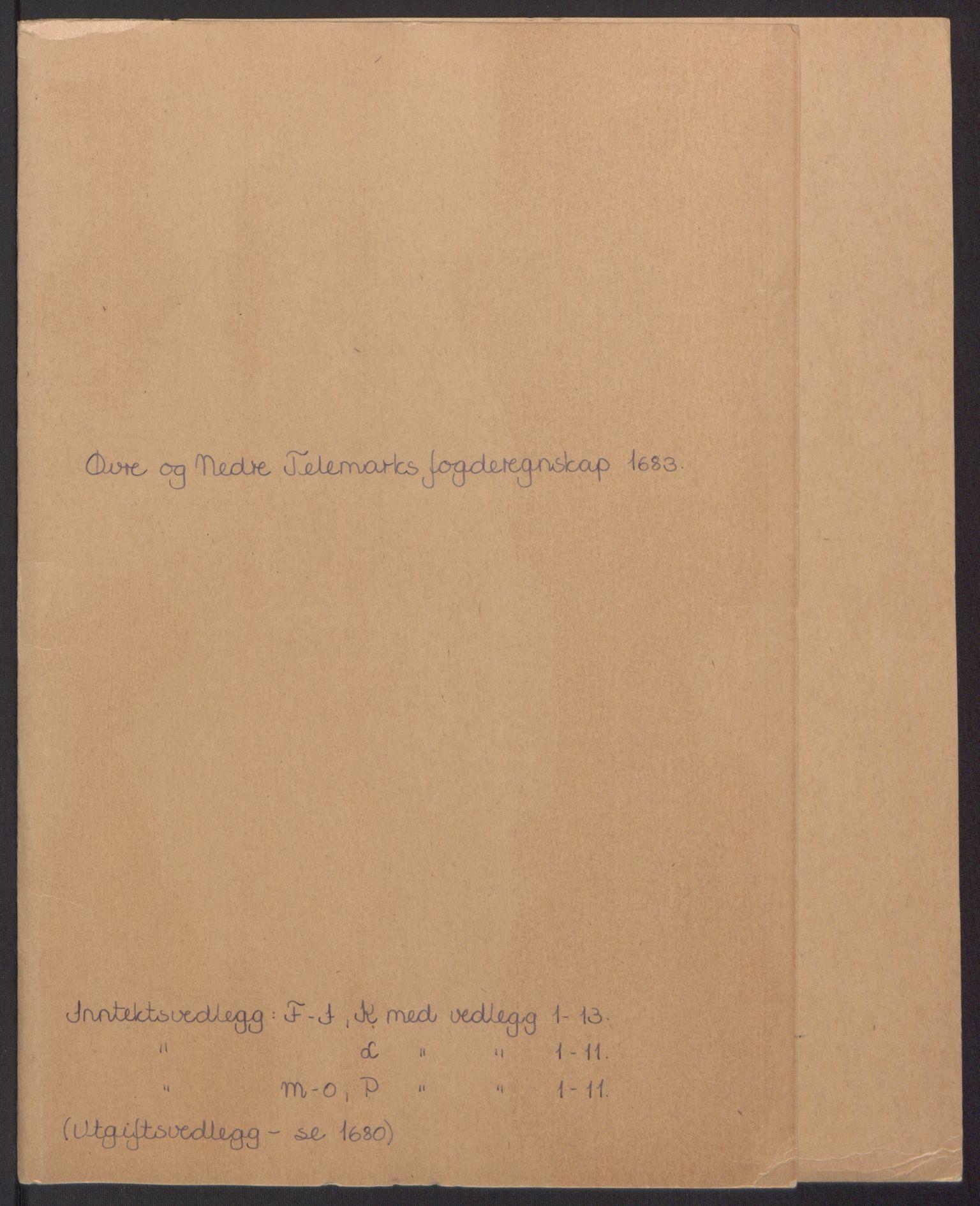 RA, Rentekammeret inntil 1814, Reviderte regnskaper, Fogderegnskap, R35/L2080: Fogderegnskap Øvre og Nedre Telemark, 1680-1684, s. 2