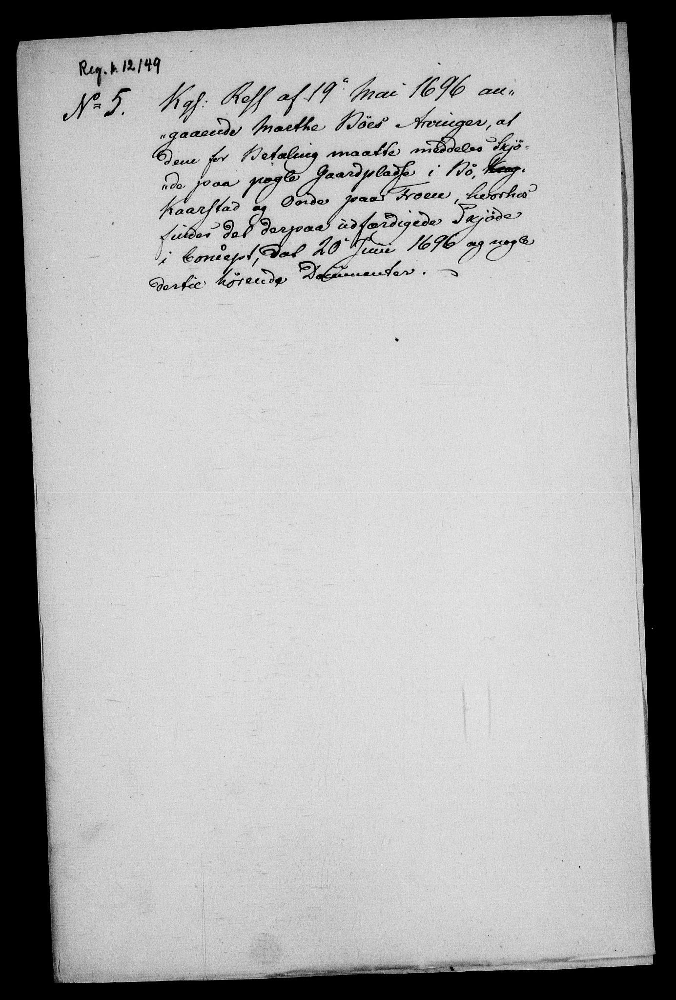 RA, Rentekammeret inntil 1814, Realistisk ordnet avdeling, On/L0013: [Jj 14]: Forskjellige dokumenter om krongodset i Norge, 1672-1722, s. 240