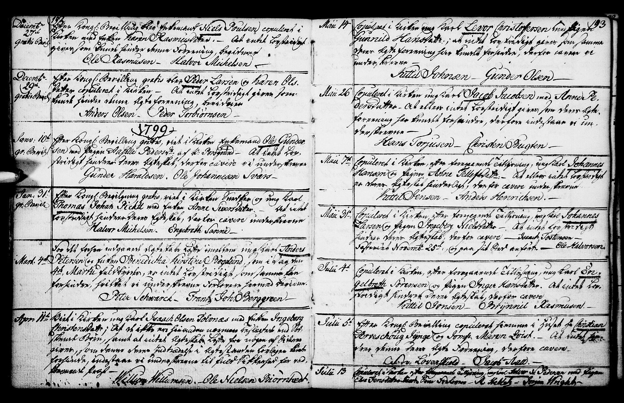 SAKO, Porsgrunn kirkebøker , F/Fa/L0003: Ministerialbok nr. 3, 1764-1814, s. 192-193