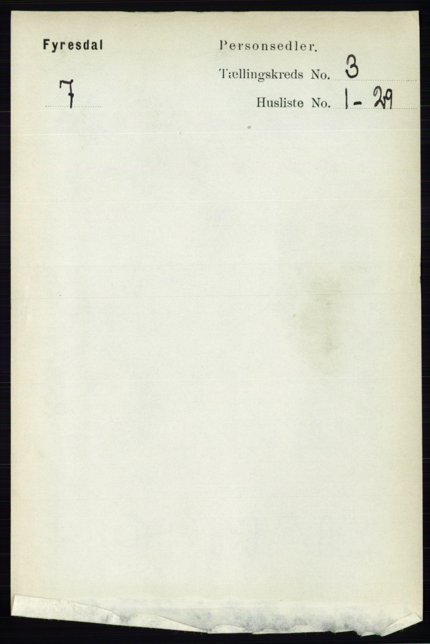 RA, Folketelling 1891 for 0831 Fyresdal herred, 1891, s. 565