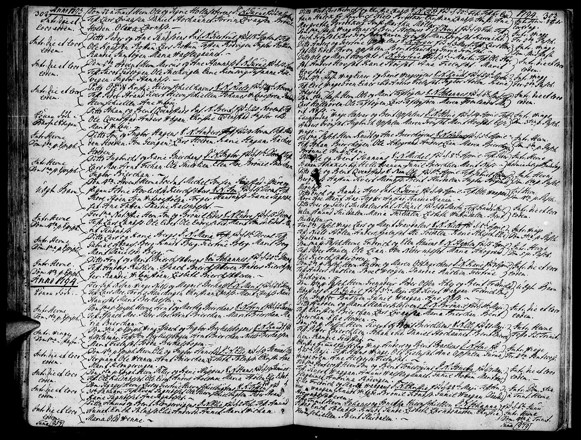 SAT, Ministerialprotokoller, klokkerbøker og fødselsregistre - Sør-Trøndelag, 630/L0489: Ministerialbok nr. 630A02, 1757-1794, s. 302-303