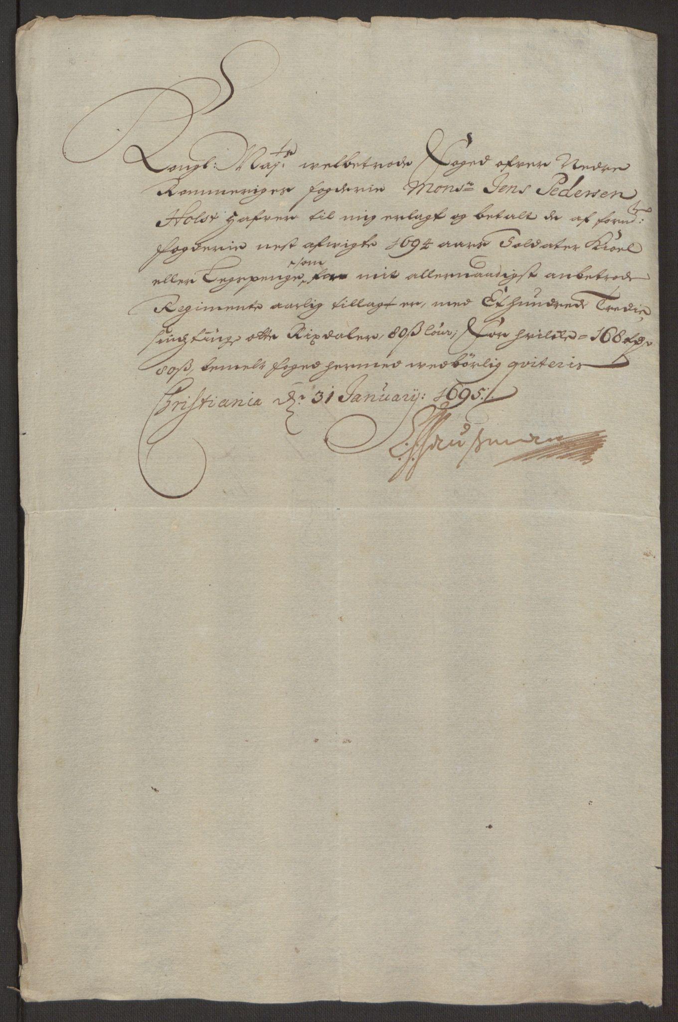 RA, Rentekammeret inntil 1814, Reviderte regnskaper, Fogderegnskap, R11/L0579: Fogderegnskap Nedre Romerike, 1694-1695, s. 210