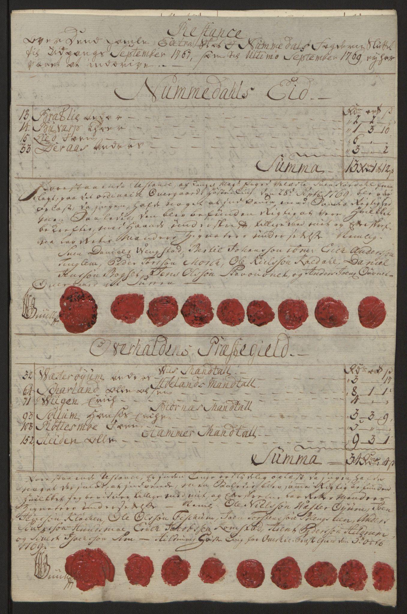 RA, Rentekammeret inntil 1814, Reviderte regnskaper, Fogderegnskap, R64/L4502: Ekstraskatten Namdal, 1762-1772, s. 339