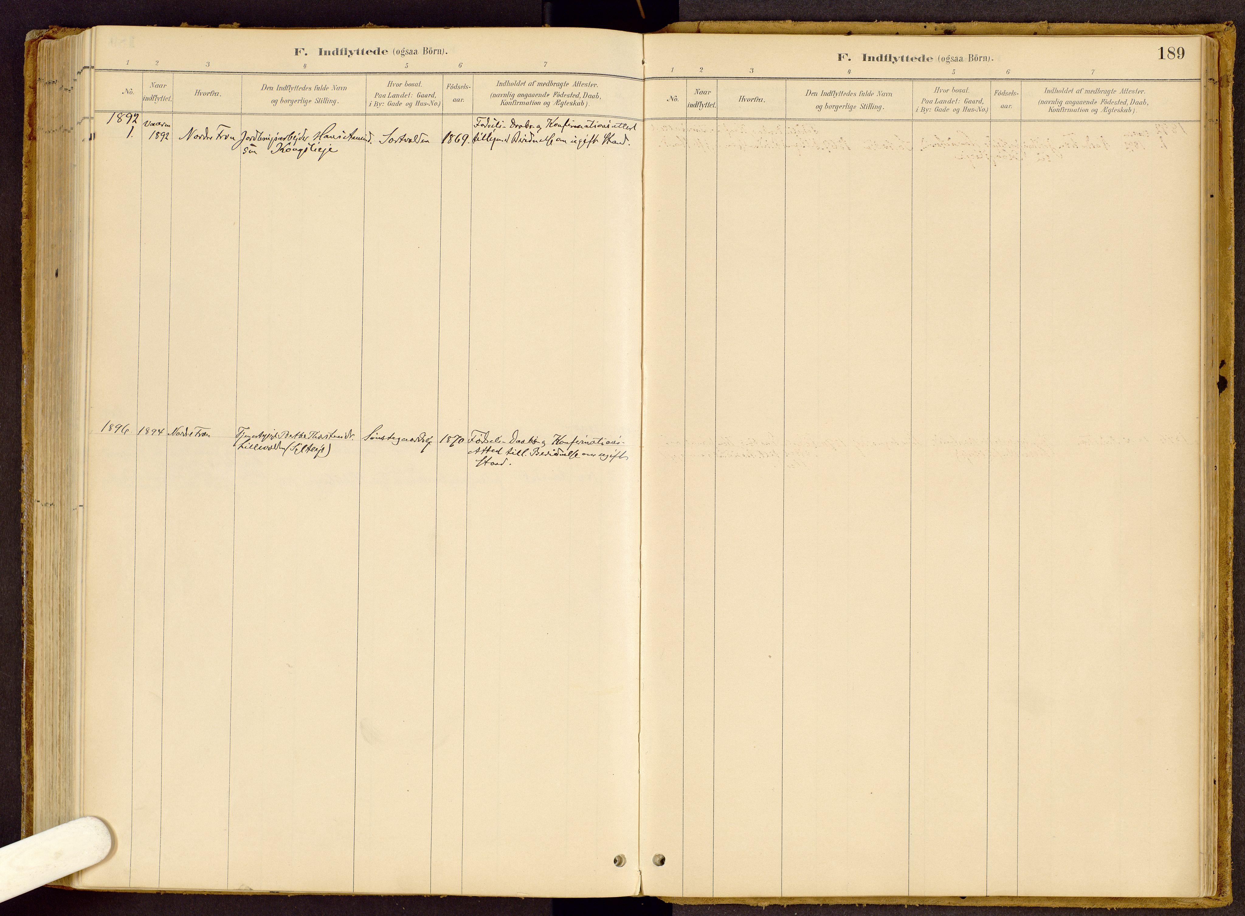 SAH, Vestre Gausdal prestekontor, Ministerialbok nr. 2, 1887-1918, s. 189